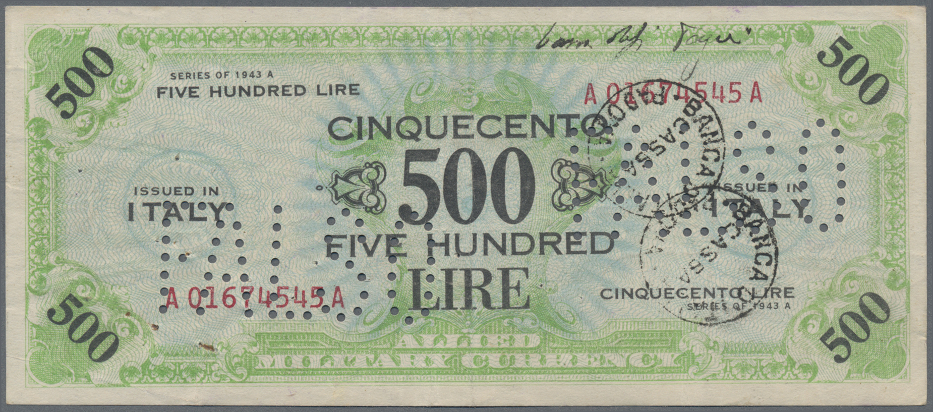 Lot 00464 - Italy / Italien | Banknoten  -  Auktionshaus Christoph Gärtner GmbH & Co. KG Sale #48 The Banknotes