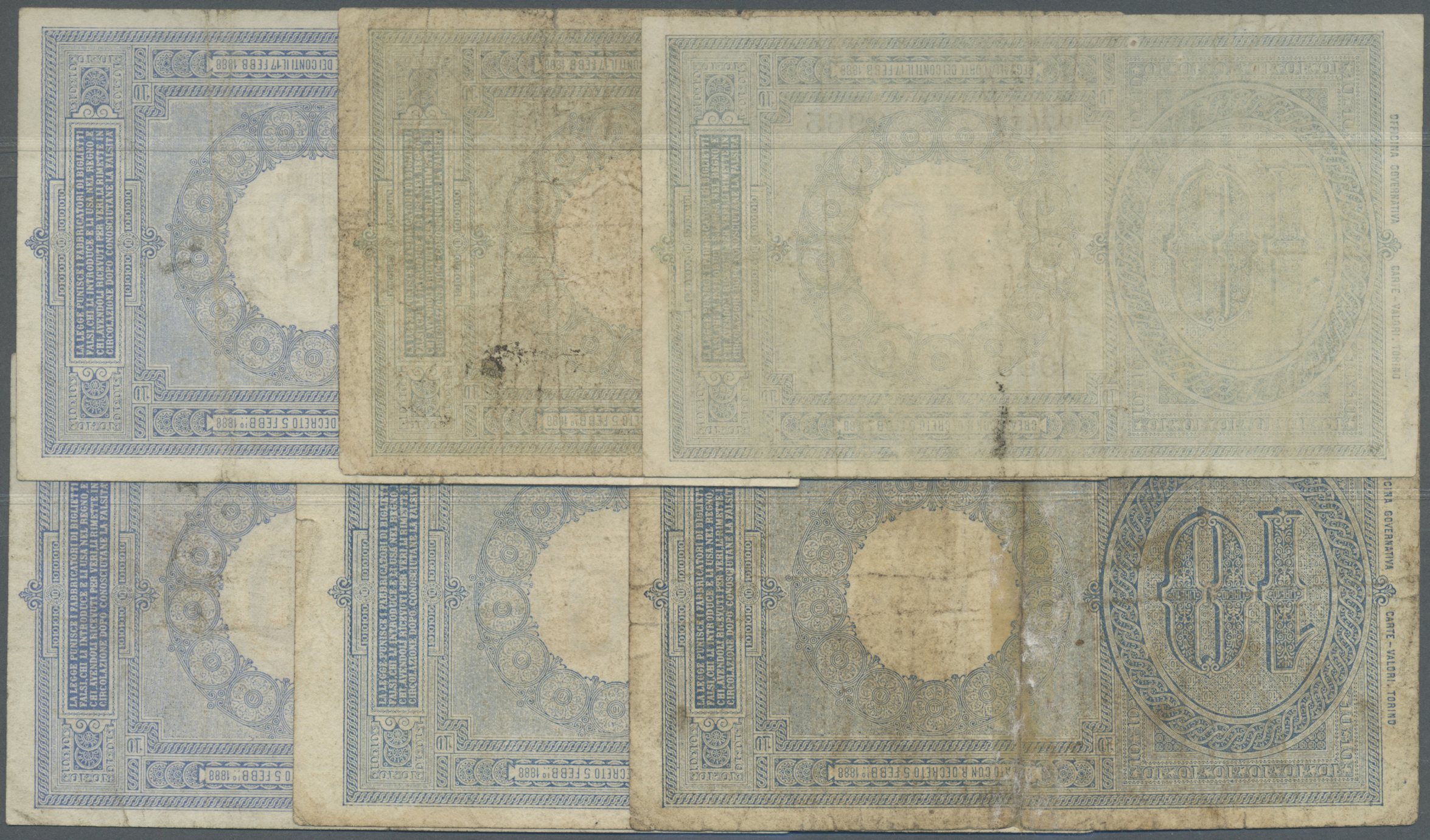 Lot 00452 - Italy / Italien | Banknoten  -  Auktionshaus Christoph Gärtner GmbH & Co. KG Sale #48 The Banknotes