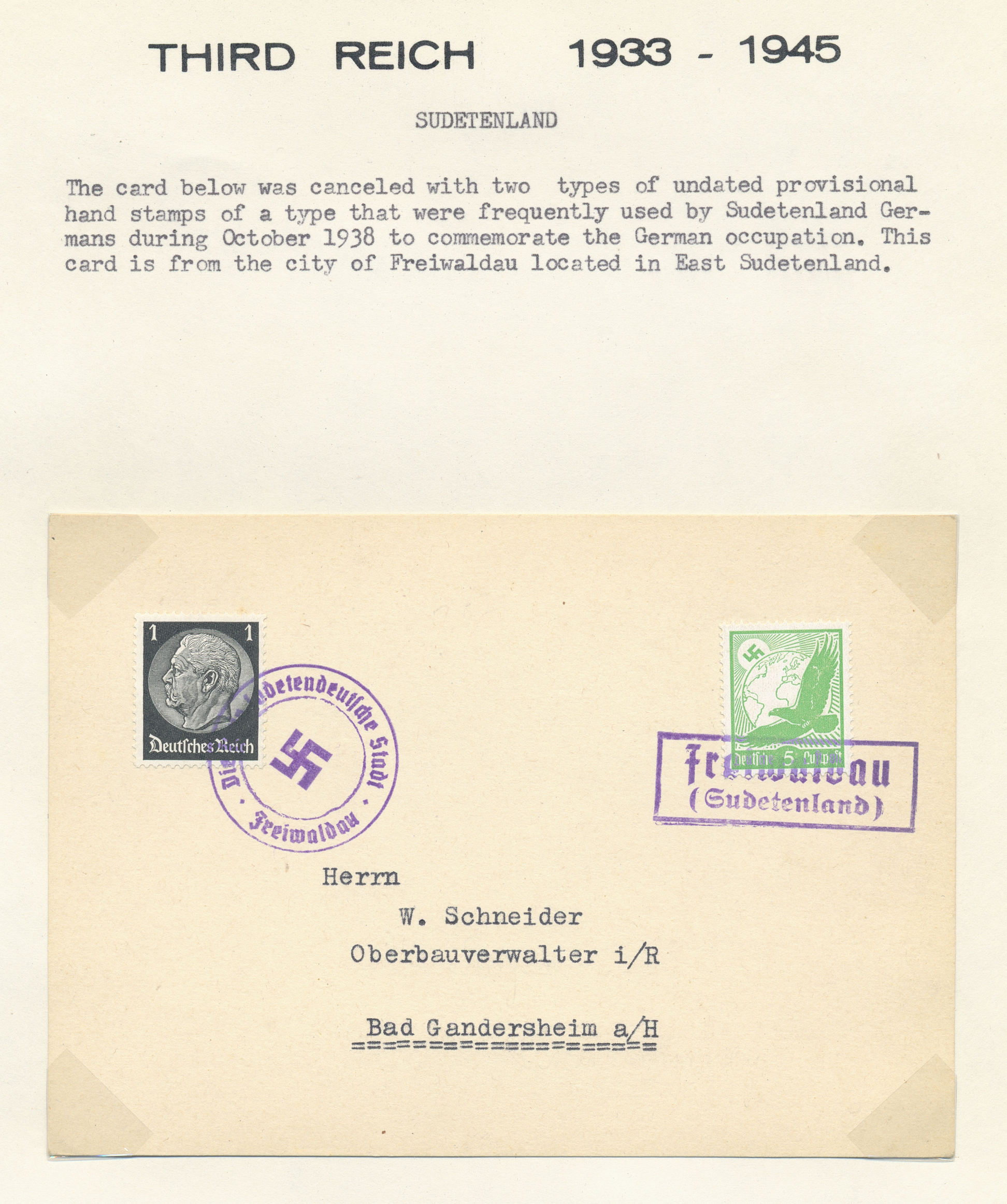 Lot 37078 - sudetenland  -  Auktionshaus Christoph Gärtner GmbH & Co. KG Sale #44 Collections Germany