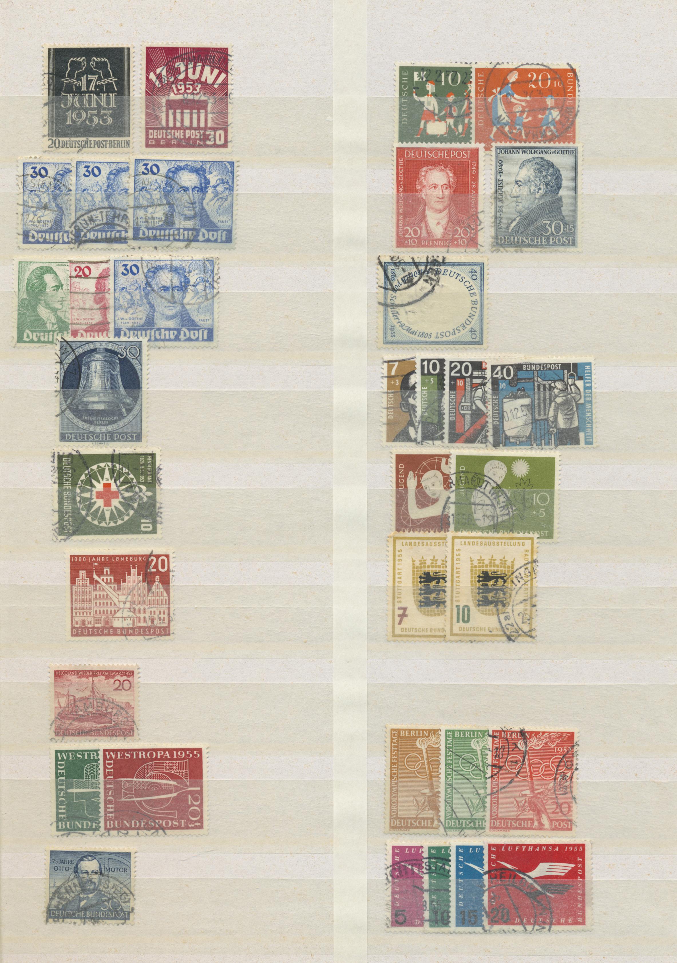 Lot 38091 - bundesrepublik und berlin  -  Auktionshaus Christoph Gärtner GmbH & Co. KG Collections Germany,  Collections Supplement, Surprise boxes #39 Day 7