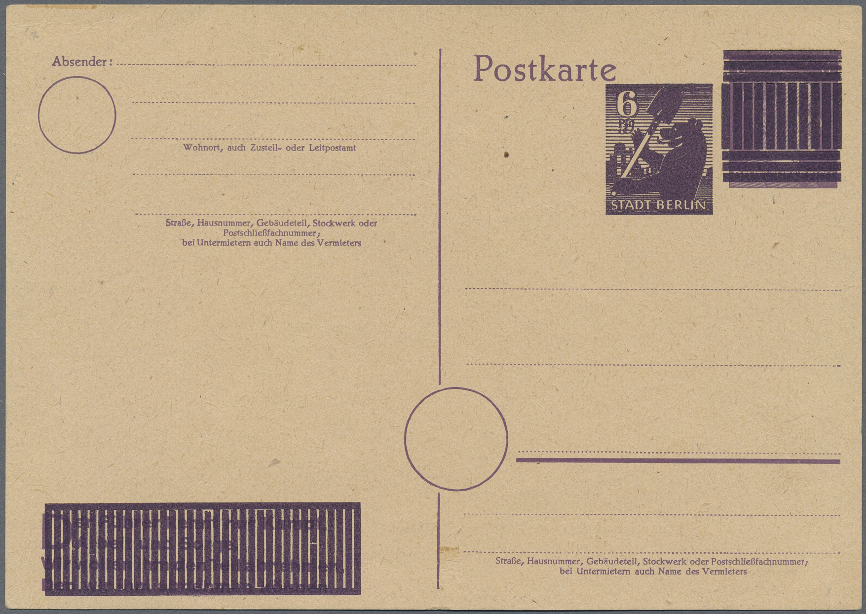 Lot 20172 - Sowjetische Zone - Ganzsachen  -  Auktionshaus Christoph Gärtner GmbH & Co. KG Auction #40 Germany, Picture Post Cards, Collections Overseas, Thematics