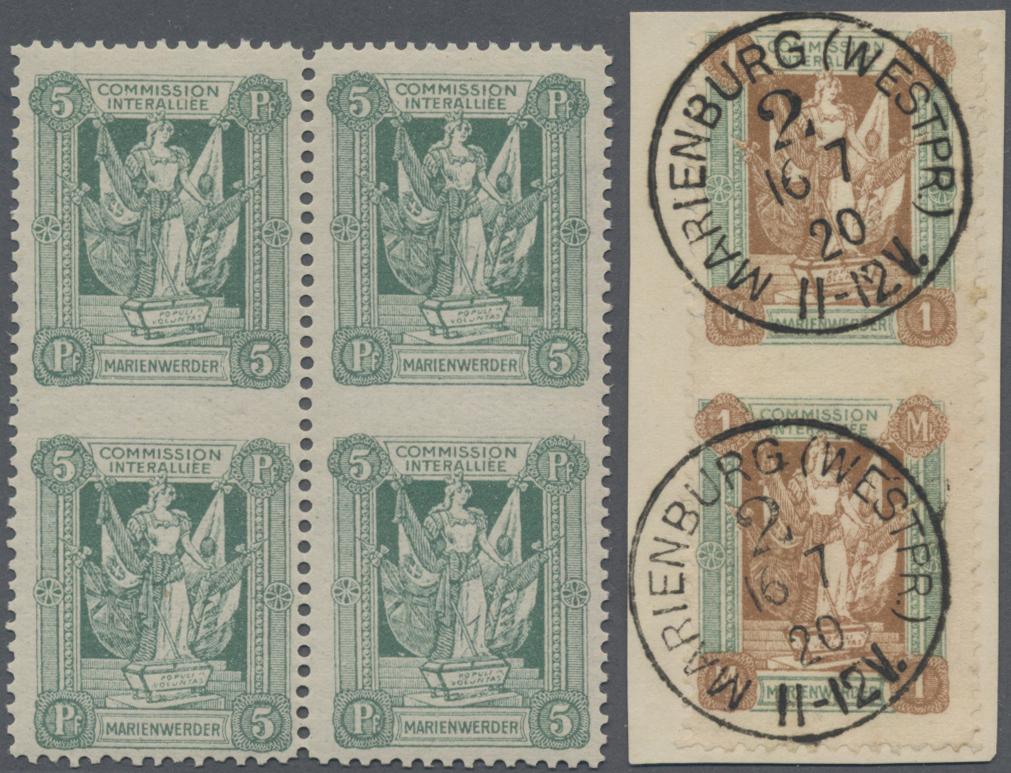 Lot 37009 - Deutsche Abstimmungsgebiete: Marienwerder  -  Auktionshaus Christoph Gärtner GmbH & Co. KG Sale #44 Collections Germany
