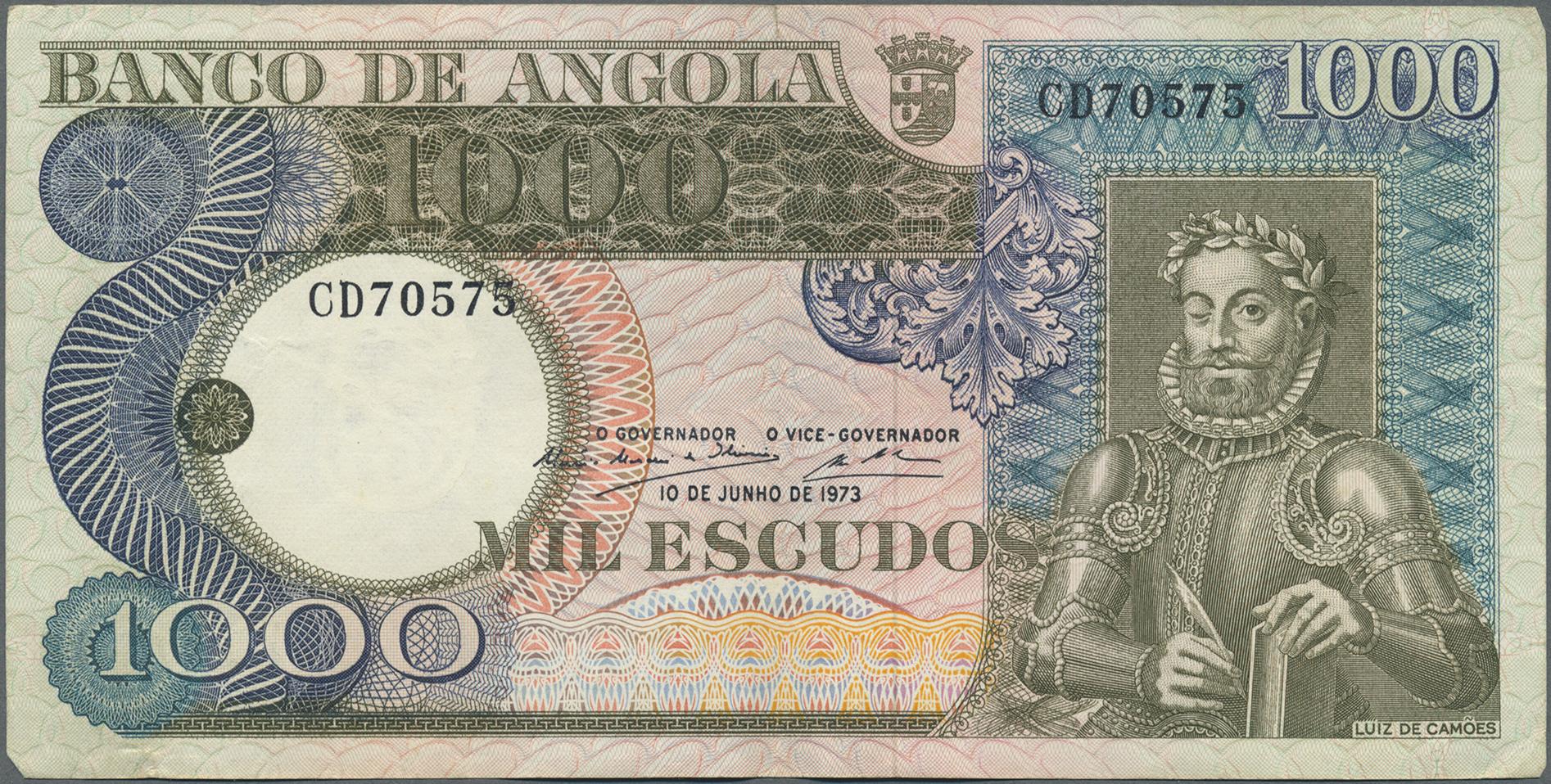 Lot 01003 - Angola | Banknoten  -  Auktionshaus Christoph Gärtner GmbH & Co. KG Sale #48 The Banknotes