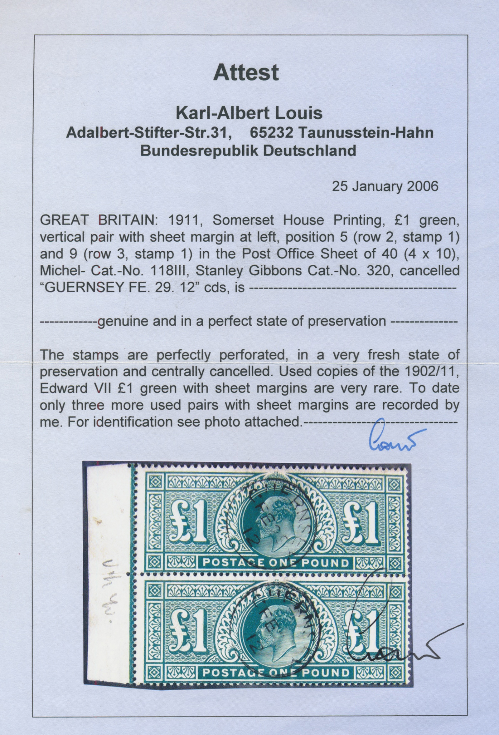Lot 00004 - großbritannien  -  Auktionshaus Christoph Gärtner GmbH & Co. KG Intenational Rarities and contains lots from the collection of Peter Zgonc