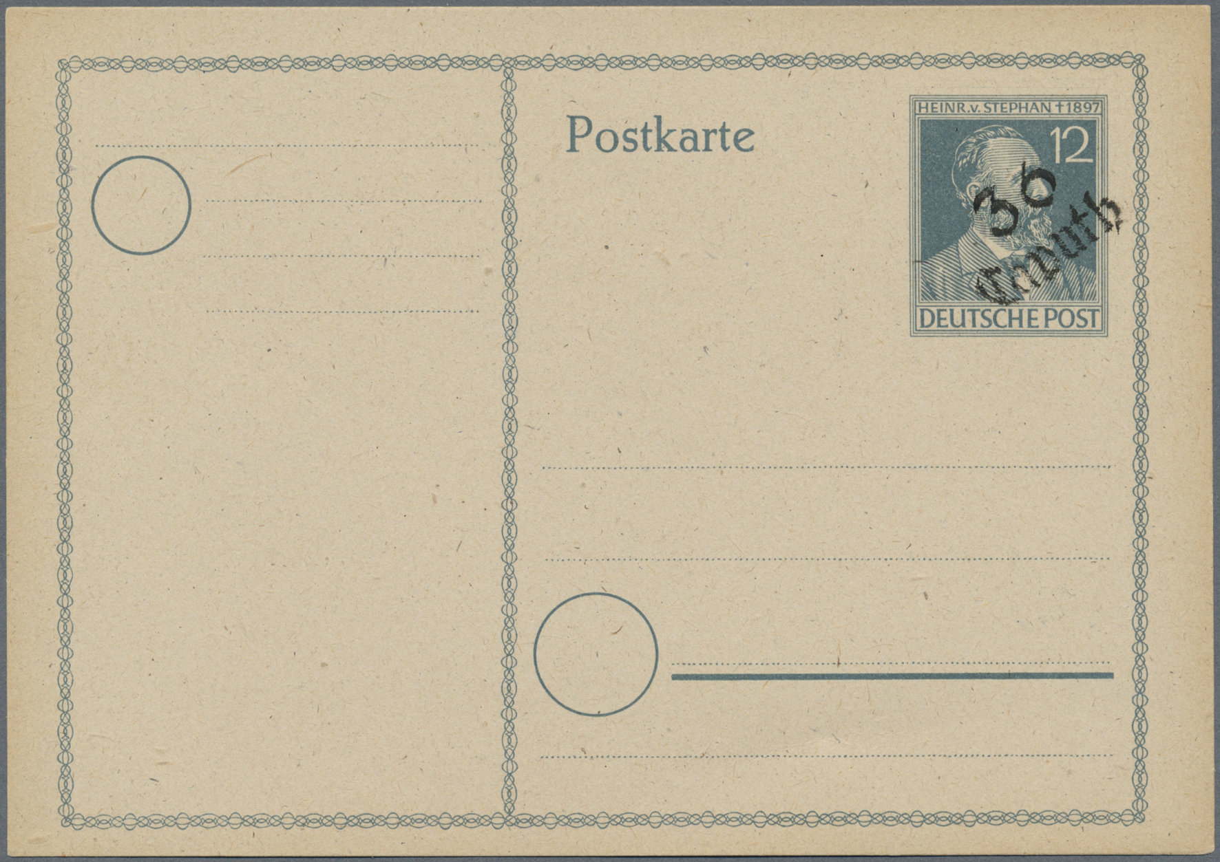 Lot 24254A - Sowjetische Zone - Bezirkshandstempel - VII - Bez. 36 (Potsdam)  -  Auktionshaus Christoph Gärtner GmbH & Co. KG Single lots Germany + Picture Postcards. Auction #39 Day 5