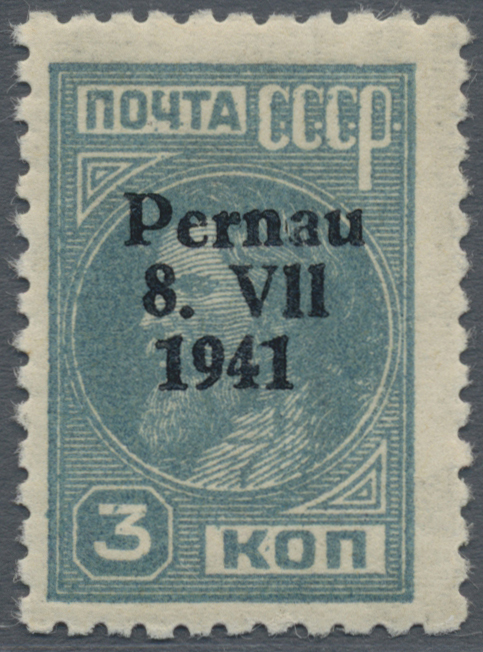 Lot 21006 - Dt. Besetzung II WK - Estland - Pernau (Pärnu)  -  Auktionshaus Christoph Gärtner GmbH & Co. KG Sale #48 Estates, supplement Germany before & after 1945