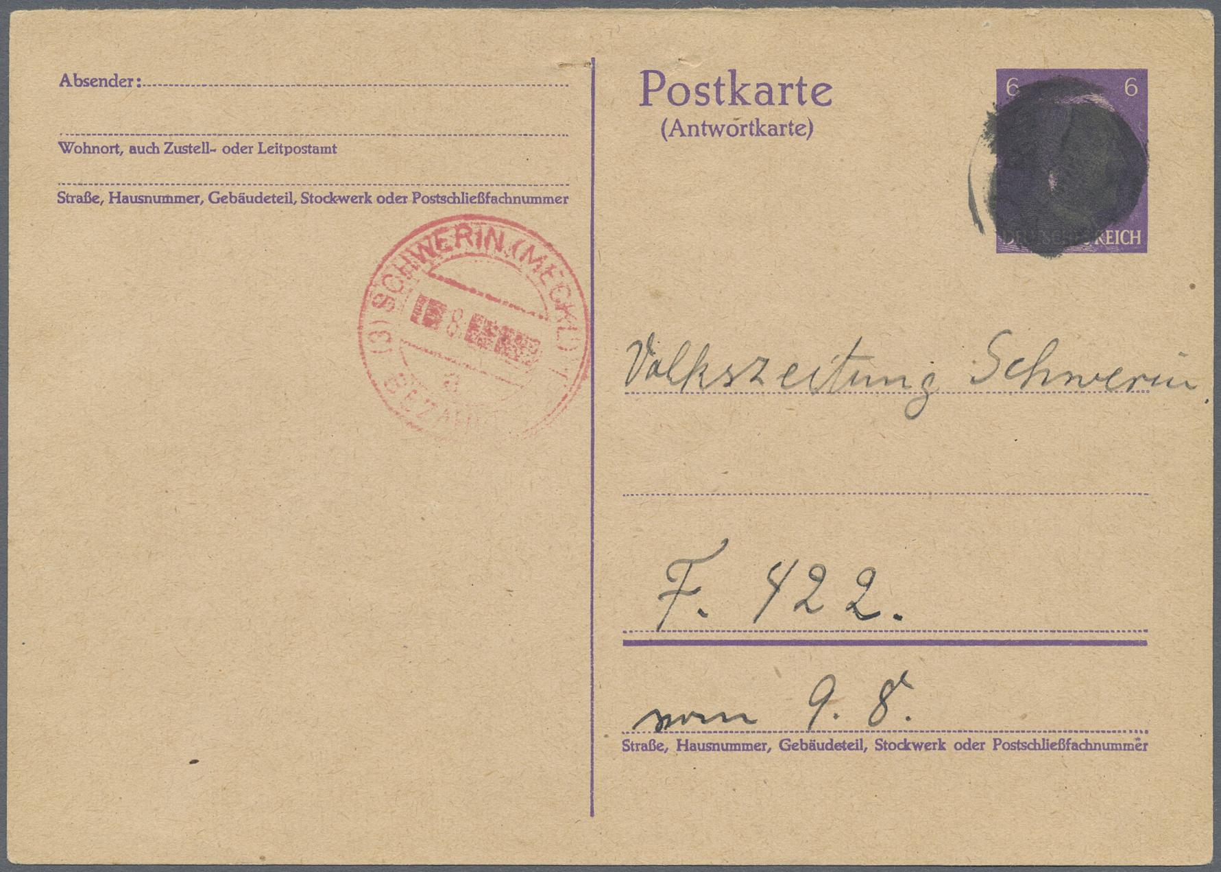 Lot 06040 - Alliierte Besetzung - Notausgaben: Sowjetische Zone  -  Auktionshaus Christoph Gärtner GmbH & Co. KG Special Auction 26.- 28. May 2020