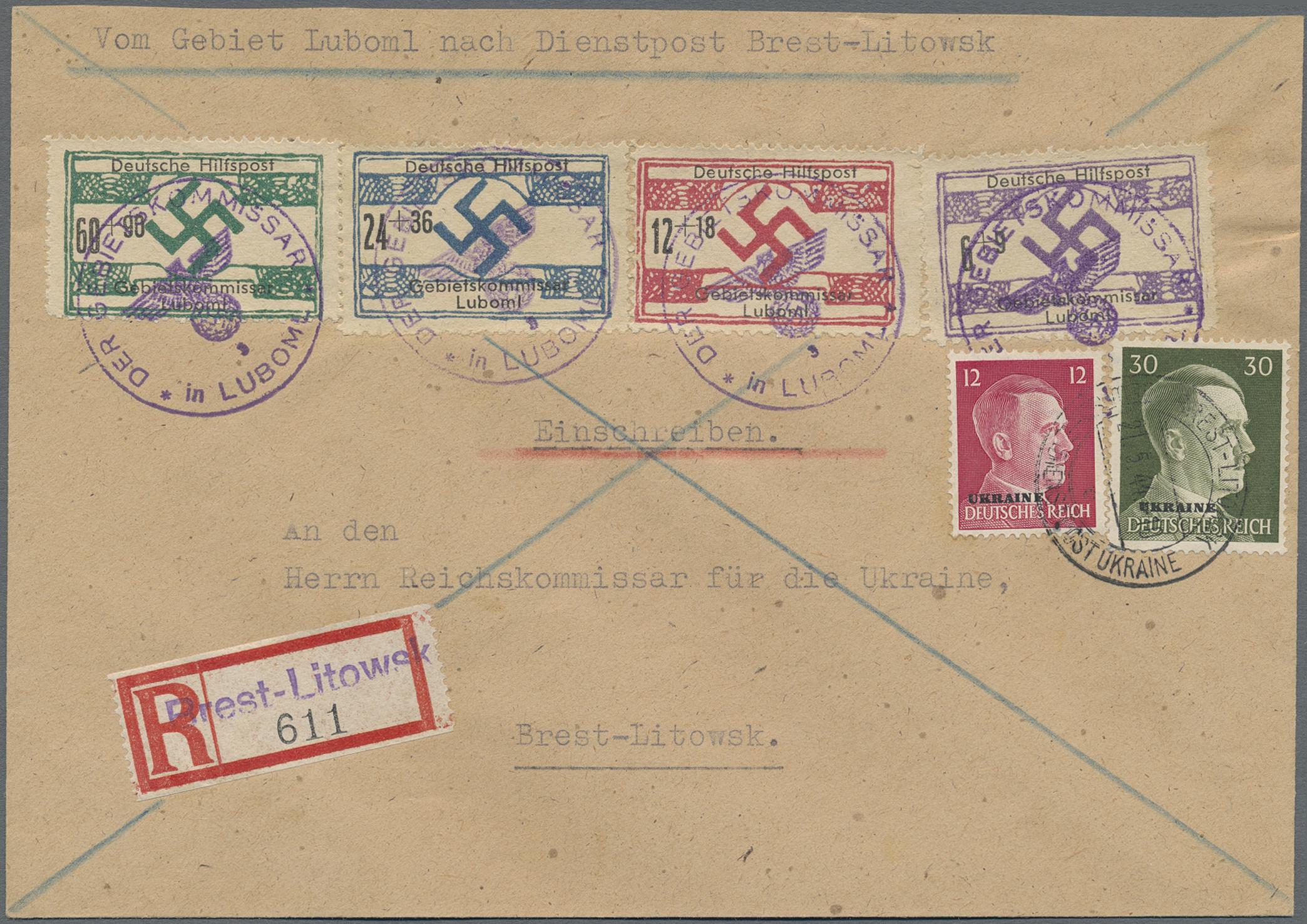 Lot 23856 - Dt. Besetzung II WK - Ukraine - Nordukraine  -  Auktionshaus Christoph Gärtner GmbH & Co. KG Sale #44 Germany, Picture Post cards