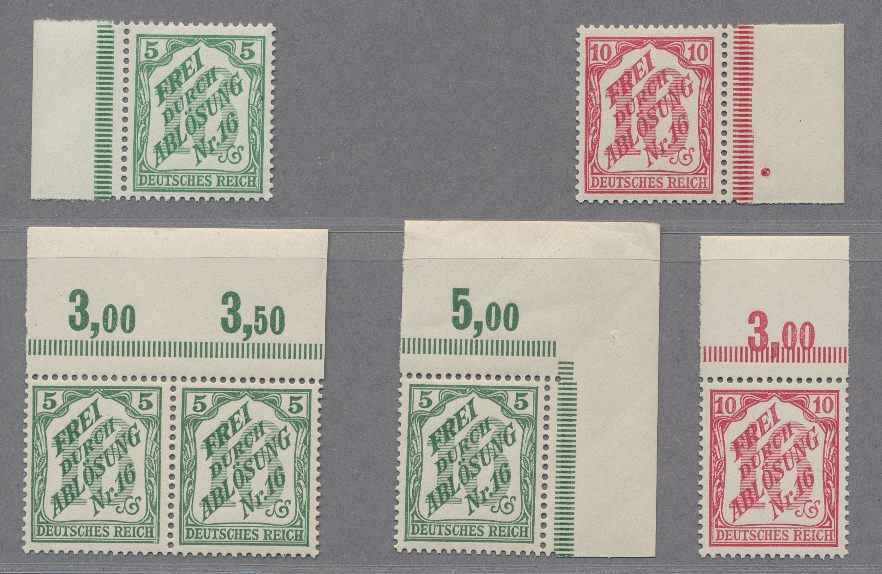 Lot 37050 - Deutsches Reich - Dienstmarken  -  Auktionshaus Christoph Gärtner GmbH & Co. KG Collections Germany,  Collections Supplement, Surprise boxes #39 Day 7