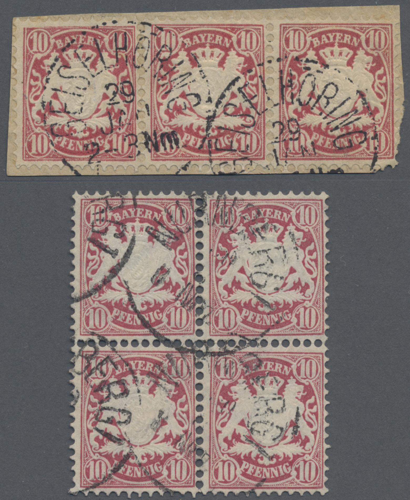 Lot 01901 - Bayern - Marken und Briefe  -  Auktionshaus Christoph Gärtner GmbH & Co. KG Special auction