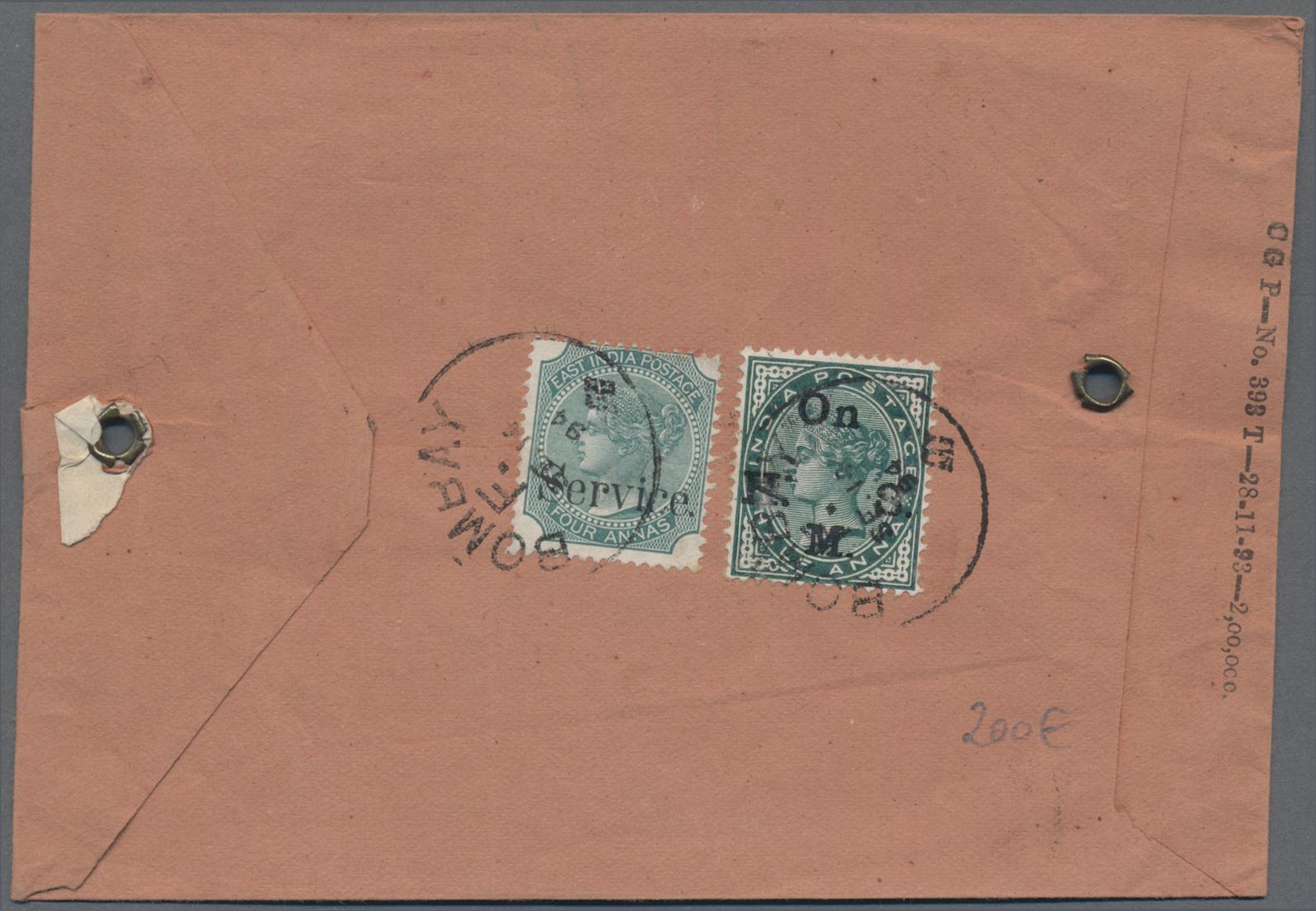 Lot 06512 - Indien - Dienstmarken  -  Auktionshaus Christoph Gärtner GmbH & Co. KG Sale #46 Single lots Asia, Thematics, Overseas, Europe …