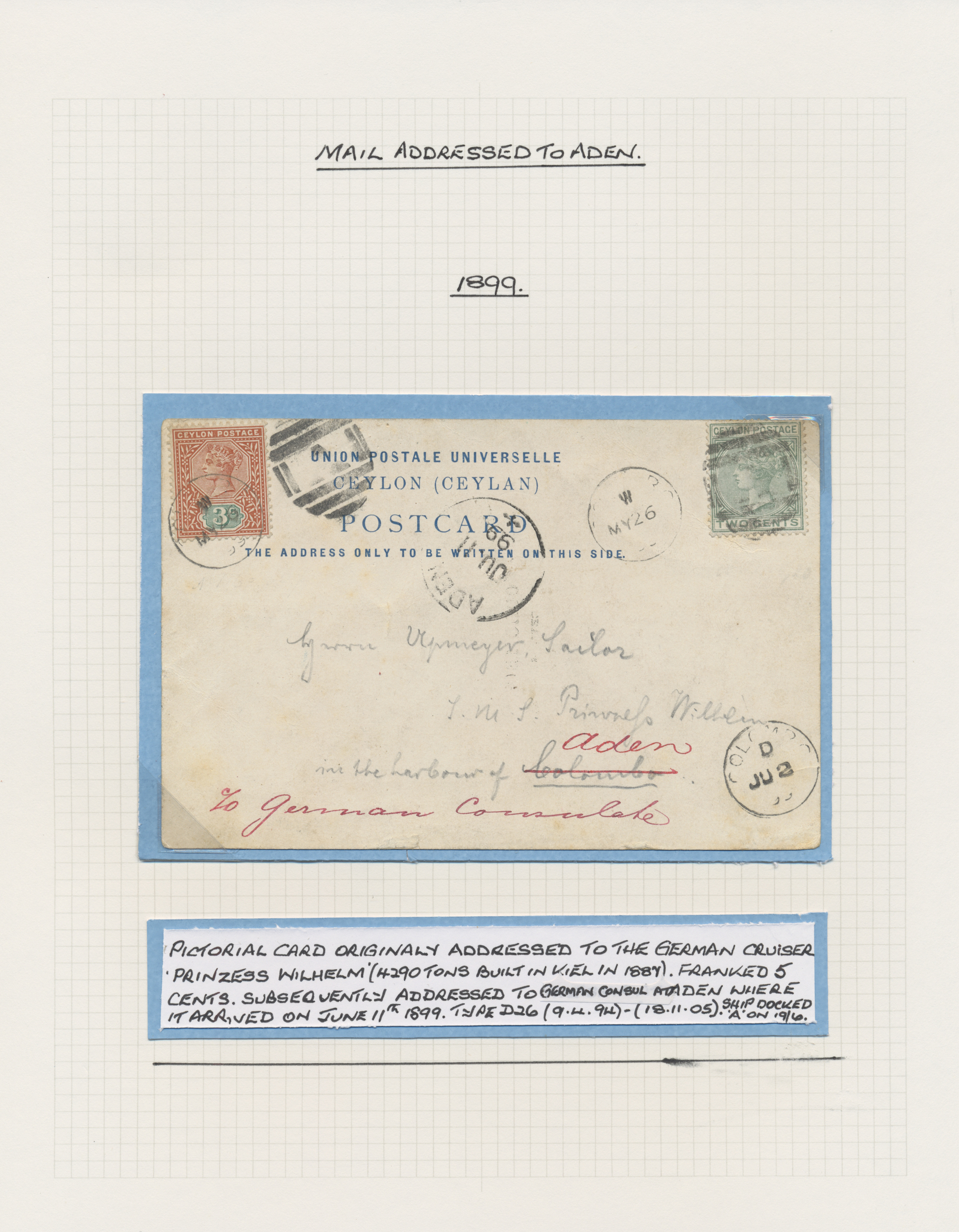 Lot 26600 - aden  -  Auktionshaus Christoph Gärtner GmbH & Co. KG Sale #46 Gollcetions Germany - including the suplement