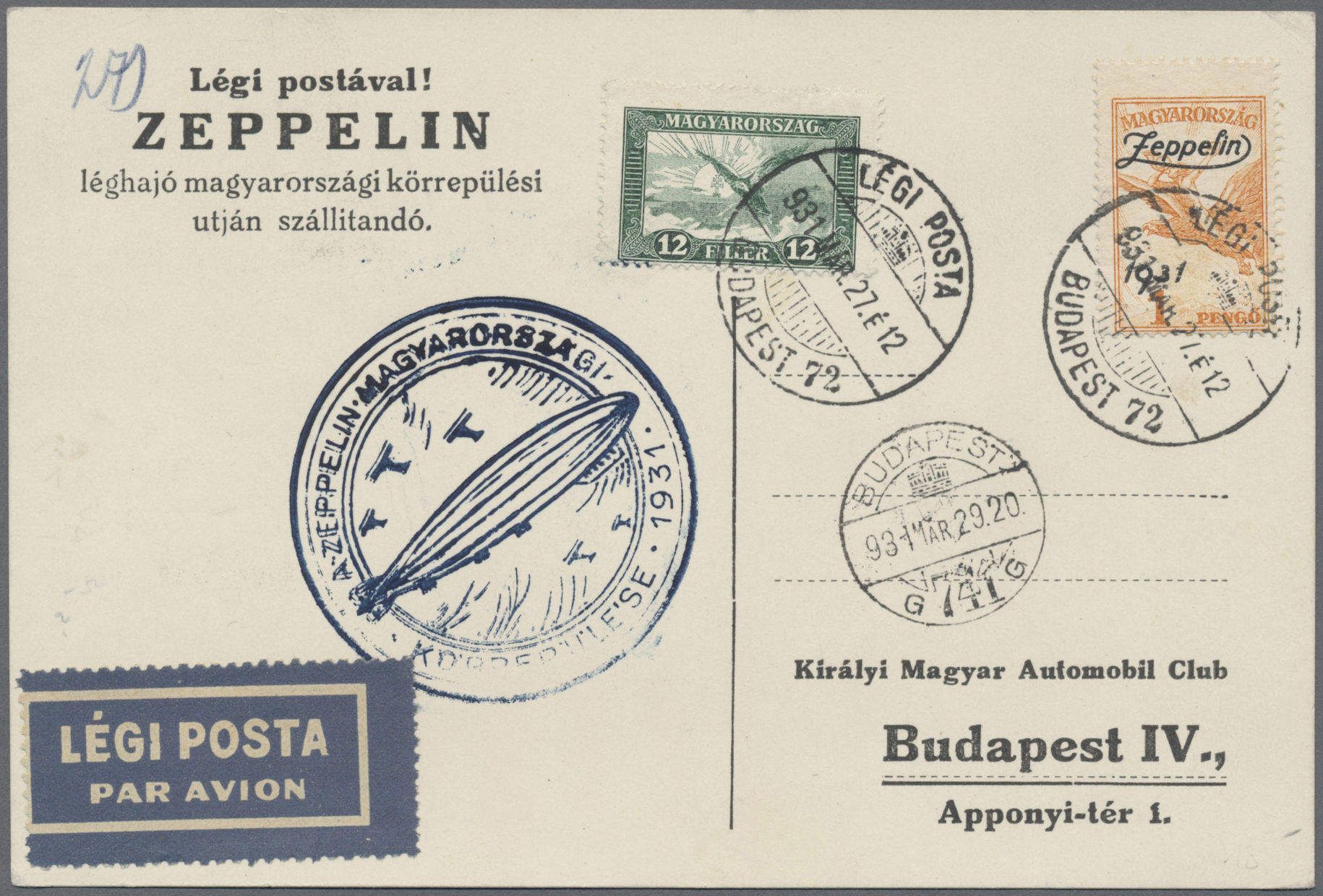 Lot 15185 - zeppelinpost europa  -  Auktionshaus Christoph Gärtner GmbH & Co. KG Sale #48 collections Overseas  Airmail / Ship mail & Thematics