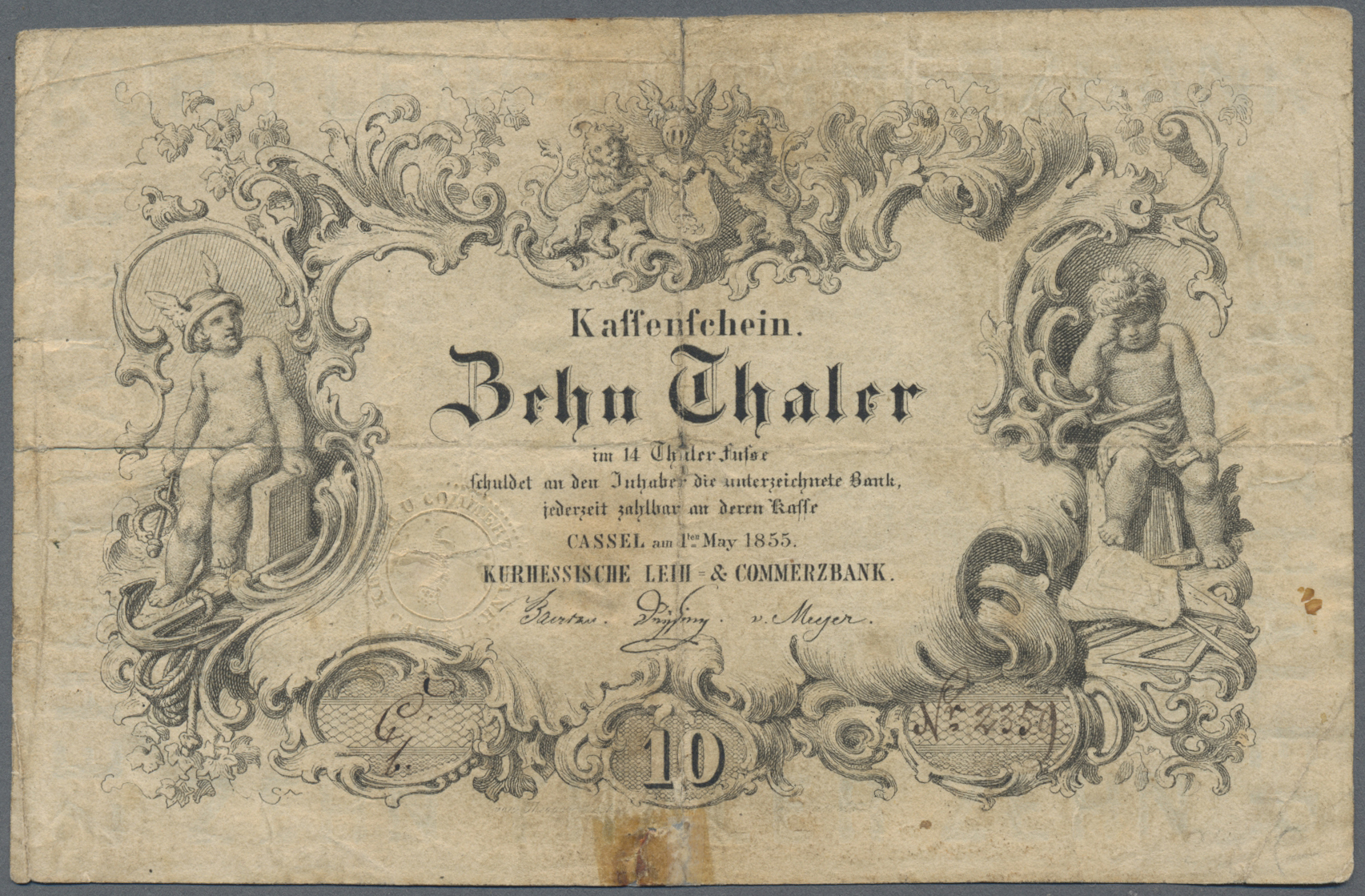 Lot 03302 - Deutschland - Altdeutsche Staaten | Banknoten  -  Auktionshaus Christoph Gärtner GmbH & Co. KG Sale #45 Banknotes Germany/Numismatics