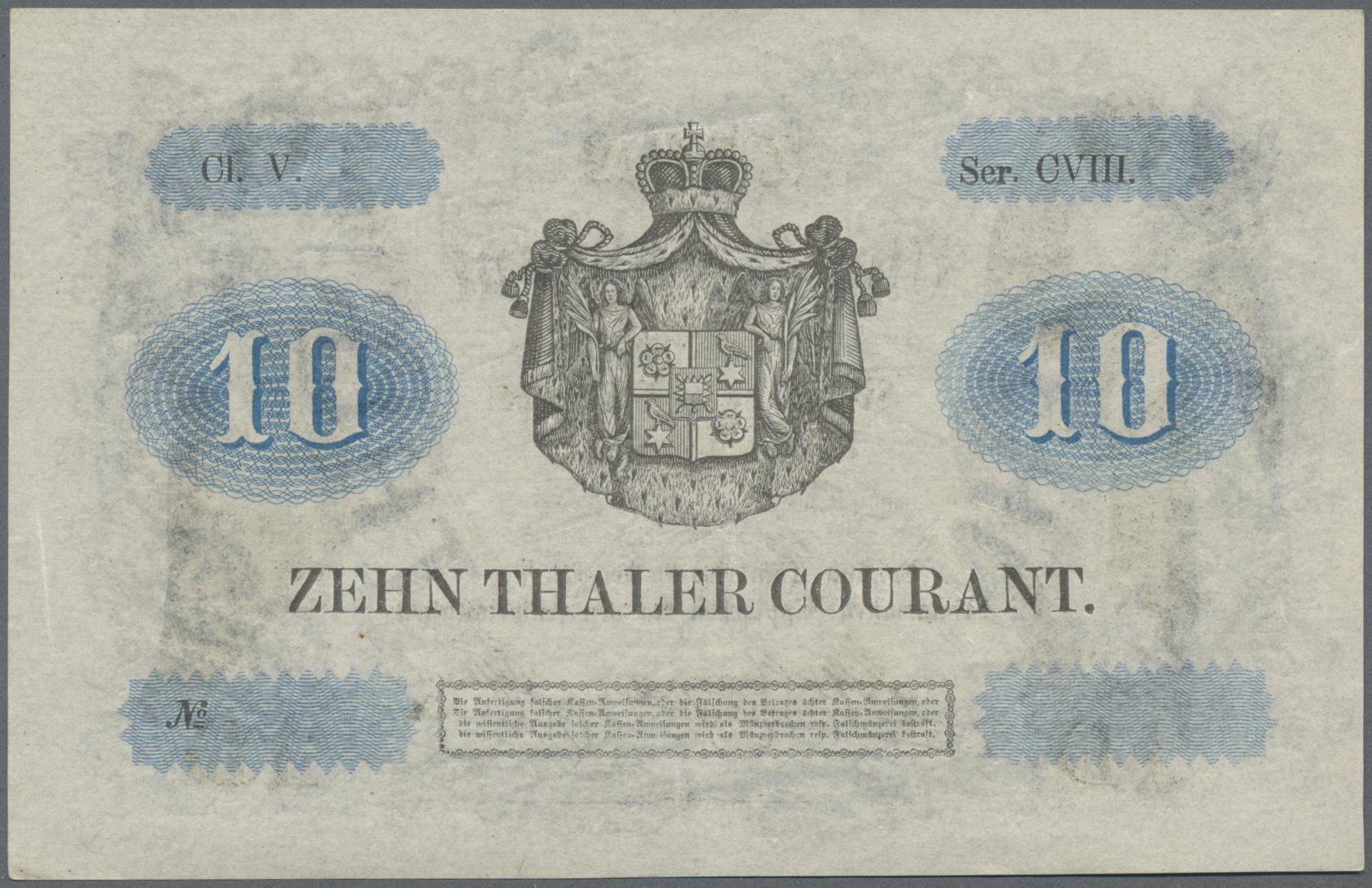 Lot 03309 - Deutschland - Altdeutsche Staaten | Banknoten  -  Auktionshaus Christoph Gärtner GmbH & Co. KG Sale #45 Banknotes Germany/Numismatics