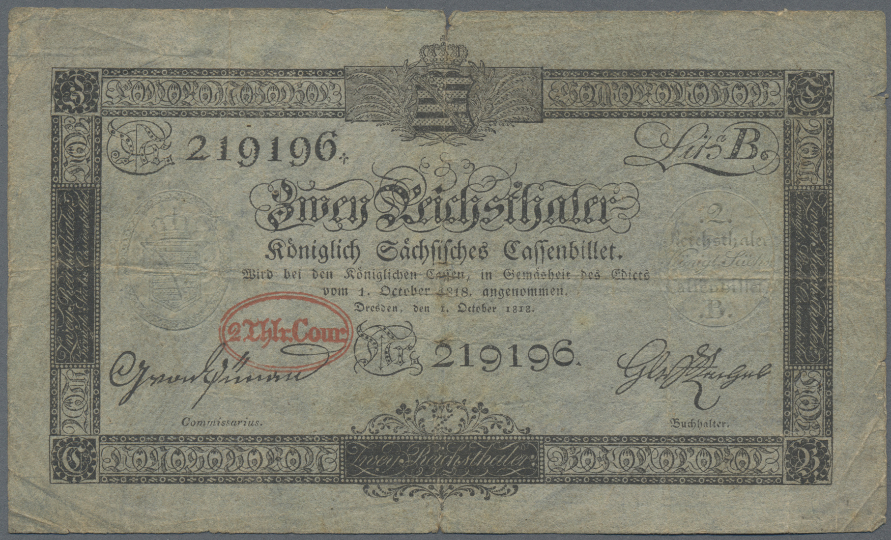 Lot 03307 - Deutschland - Altdeutsche Staaten   Banknoten  -  Auktionshaus Christoph Gärtner GmbH & Co. KG Sale #45 Banknotes Germany/Numismatics