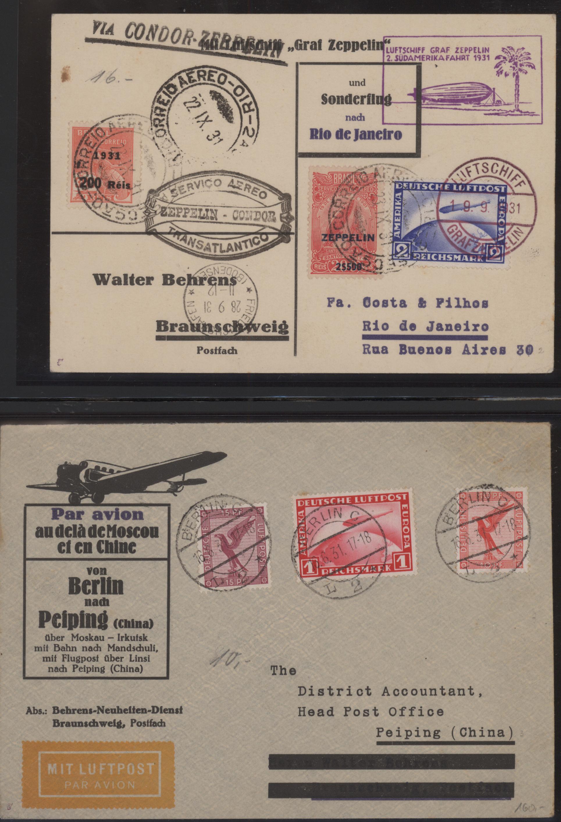Lot 10425 - zeppelinpost deutschland  -  Auktionshaus Christoph Gärtner GmbH & Co. KG 51th Auction - Day 4
