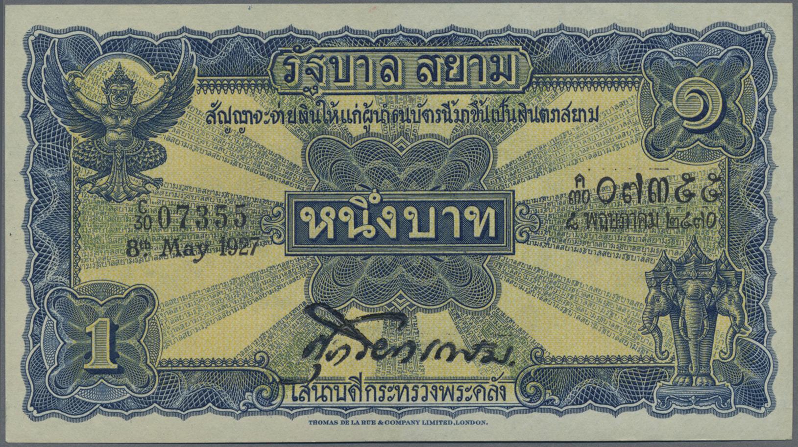 Lot 9510 - thailand banknoten -  Auktionshaus Christoph Gärtner GmbH & Co. KG Sale #47 Banknotes Worldwide & Germany, Numismatics
