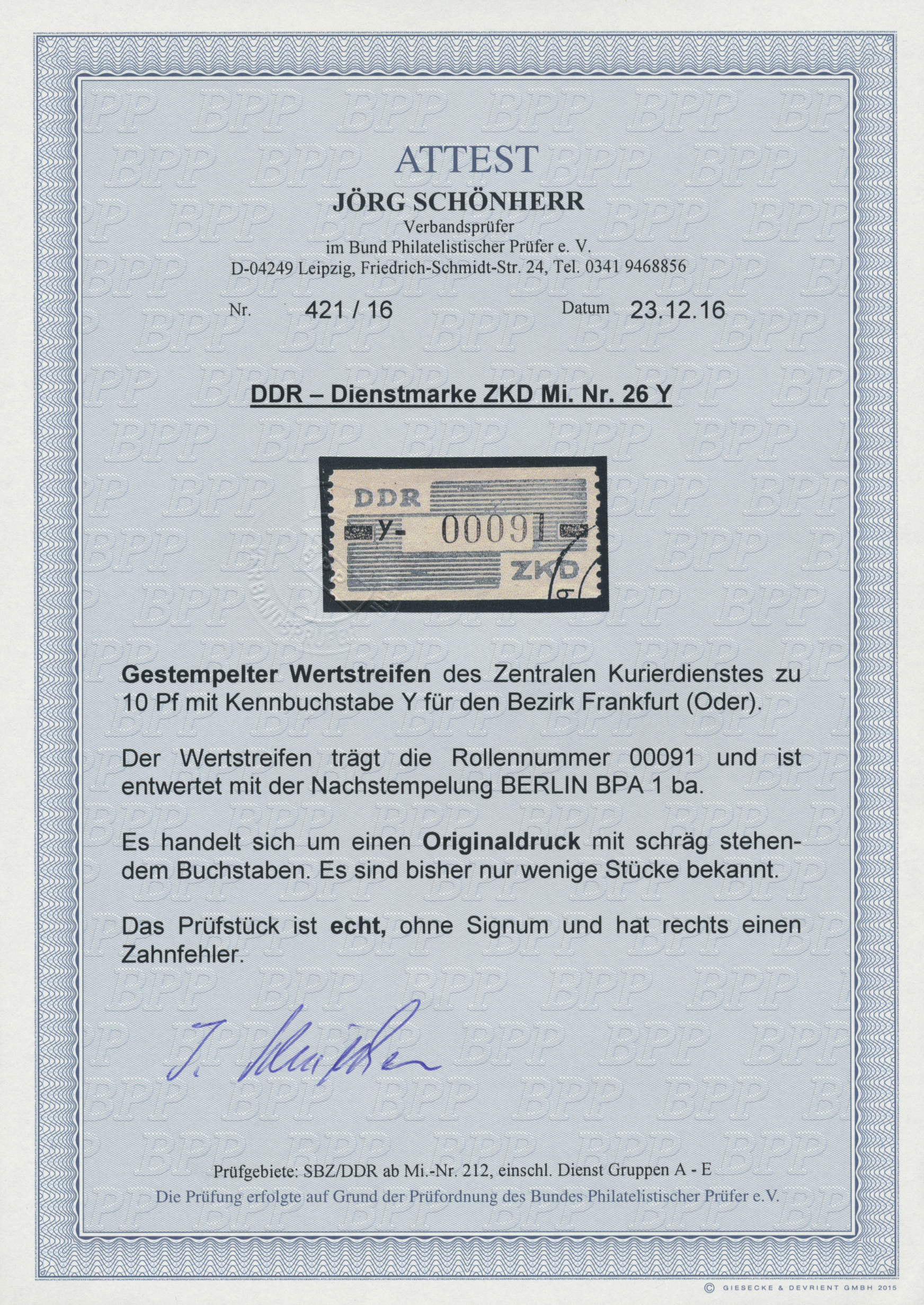 Lot 20407 - DDR - Dienstmarken C (Laufkontrollzettel ZKD)  -  Auktionshaus Christoph Gärtner GmbH & Co. KG Auction #40 Germany, Picture Post Cards, Collections Overseas, Thematics