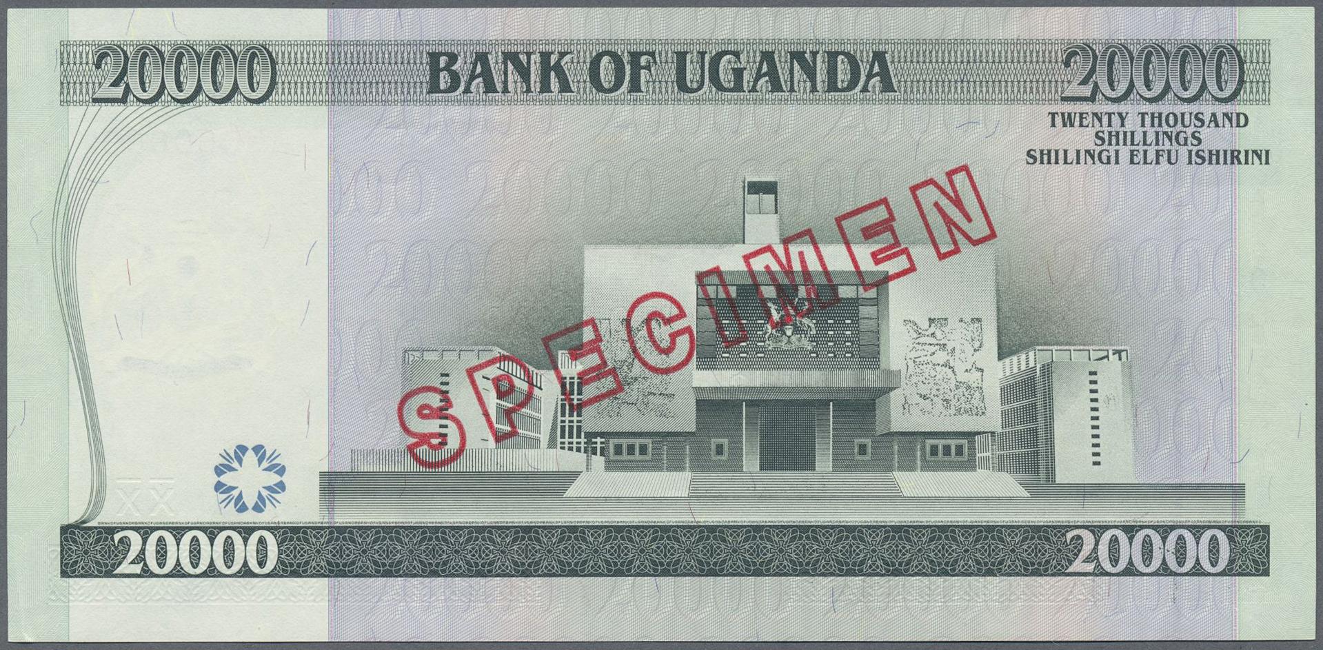 Lot 2144 - Uganda | Banknoten  -  Auktionshaus Christoph Gärtner GmbH & Co. KG Banknotes & Coins Auction #39 Day 2