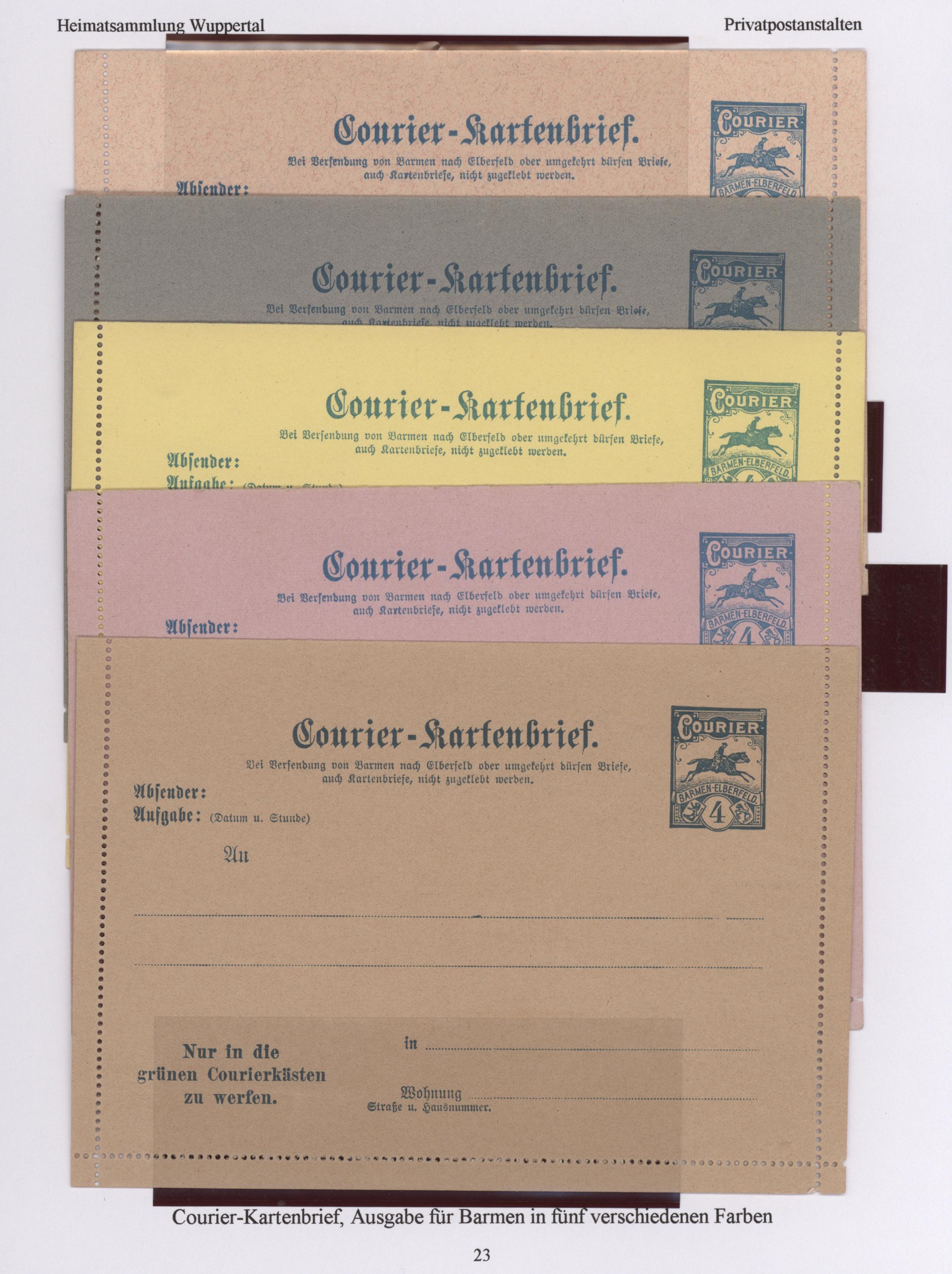 Lot 23433 - Deutsches Reich - Privatpost (Stadtpost)  -  Auktionshaus Christoph Gärtner GmbH & Co. KG 50th Auction Anniversary Auction - Day 7