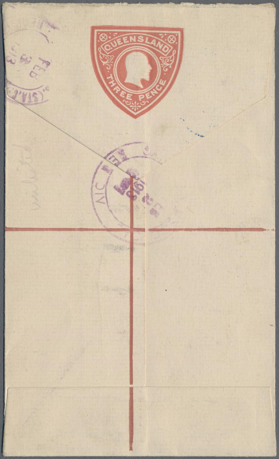Lot 03128 - Queensland - Ganzsachen  -  Auktionshaus Christoph Gärtner GmbH & Co. KG Sale #49 Special catalogue Australia, USA – Wells Fargo