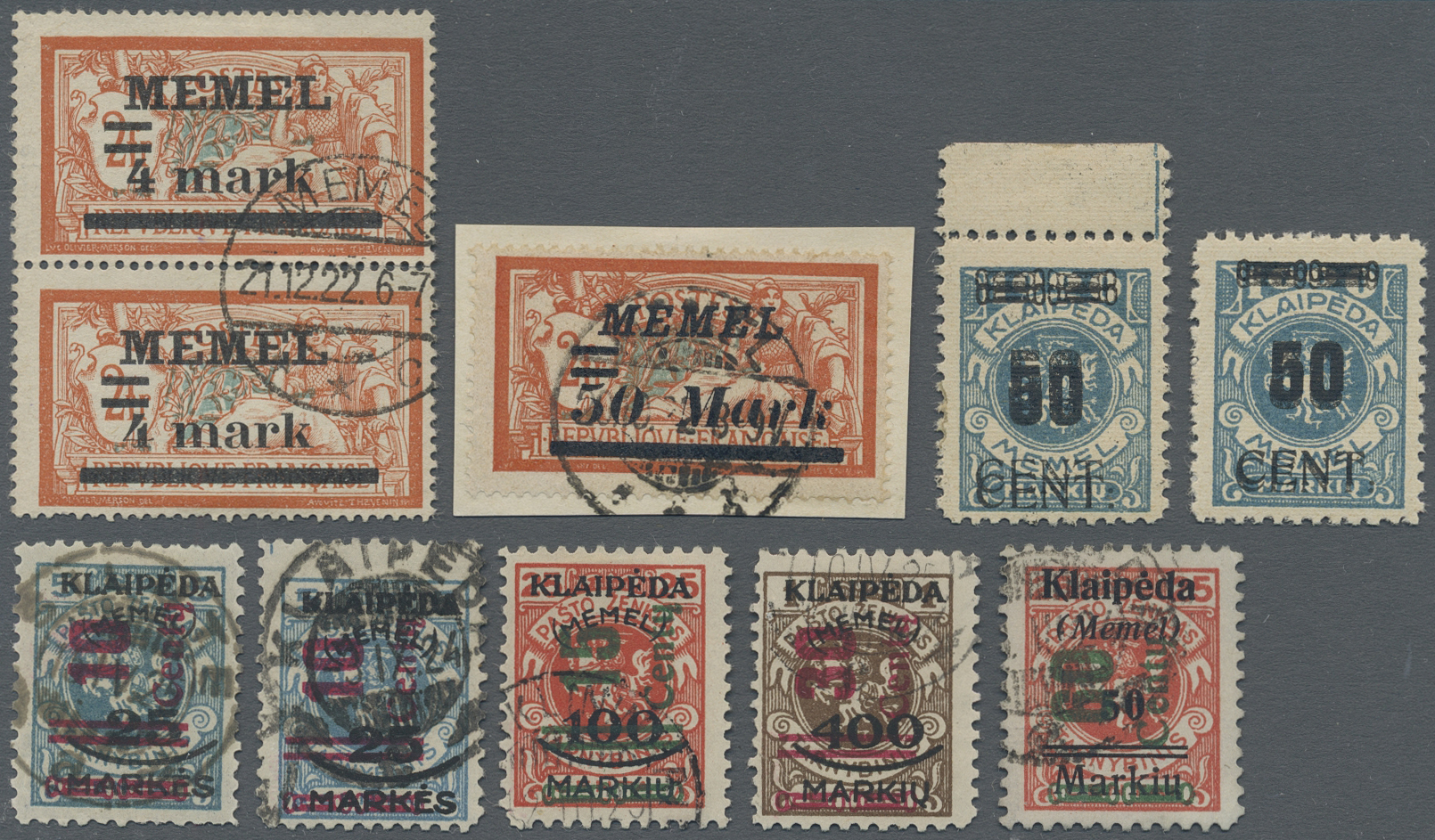 Lot 37072 - Memel  -  Auktionshaus Christoph Gärtner GmbH & Co. KG Sale #44 Collections Germany