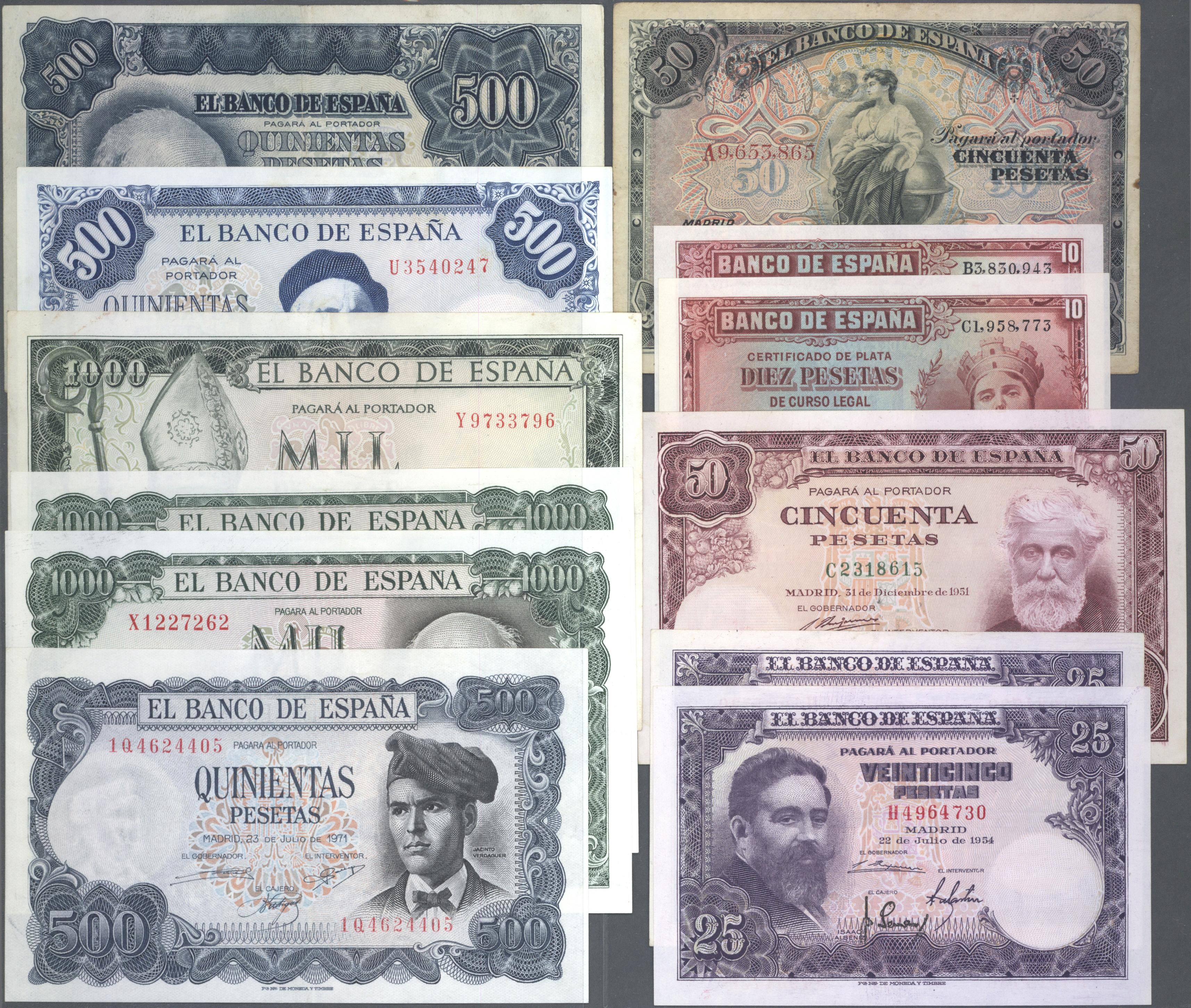 Lot 01549 - Spain / Spanien | Banknoten  -  Auktionshaus Christoph Gärtner GmbH & Co. KG Sale #46 The Banknotes Worldwide section of the 46th Christoph Gärtner Auction