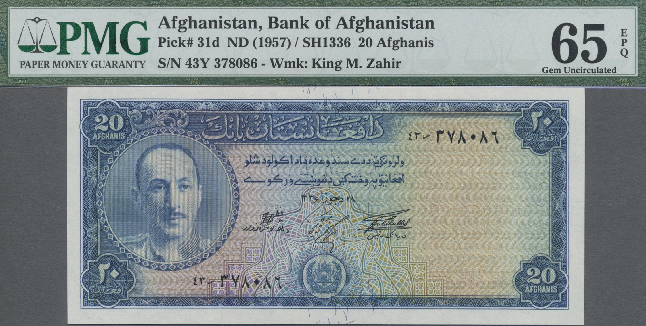 Lot 8004 - Afghanistan banknoten -  Auktionshaus Christoph Gärtner GmbH & Co. KG Sale #47 Banknotes Worldwide & Germany, Numismatics