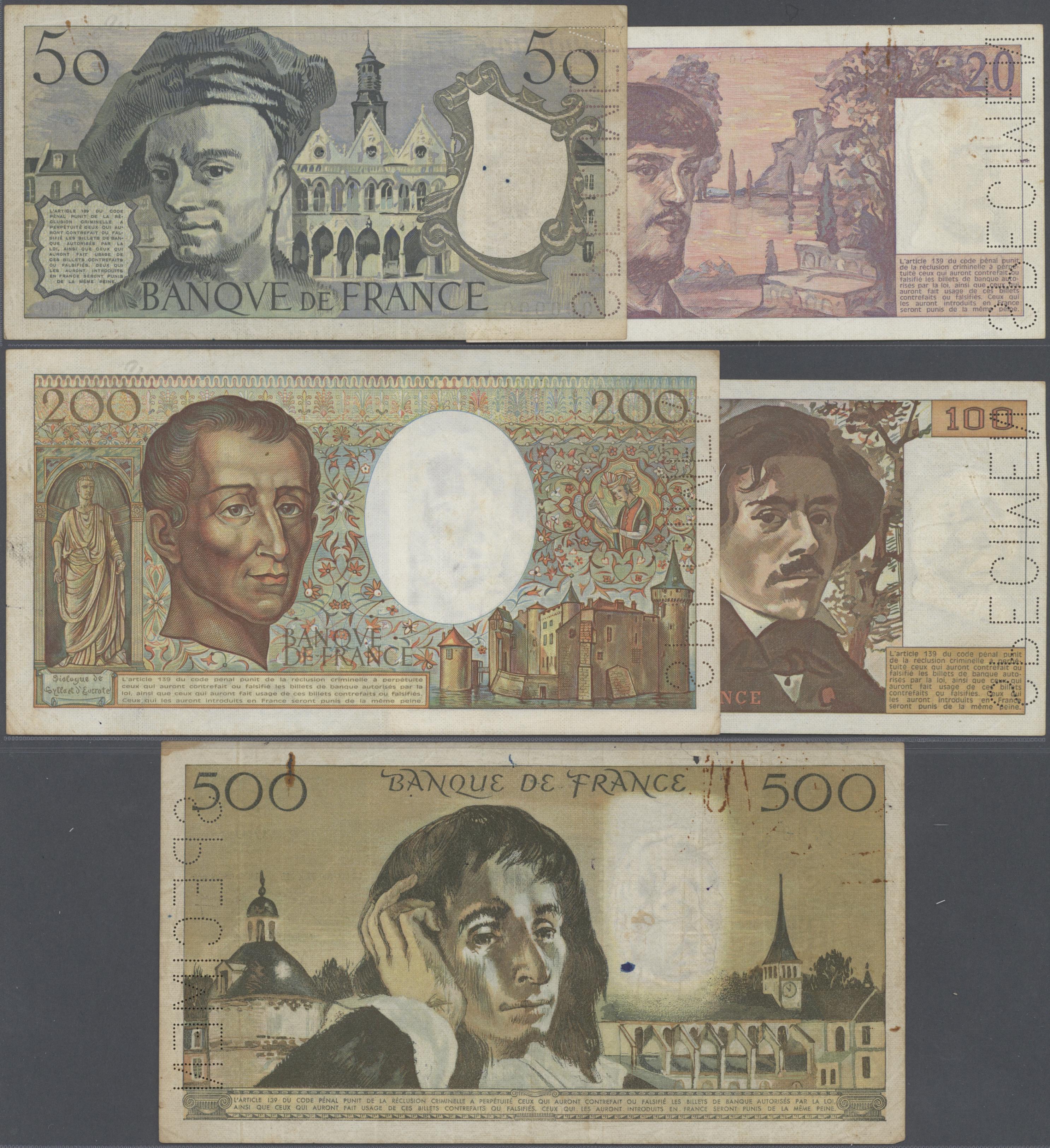 Stamp Auction - France / Frankreich | Banknoten - Banknotes ...