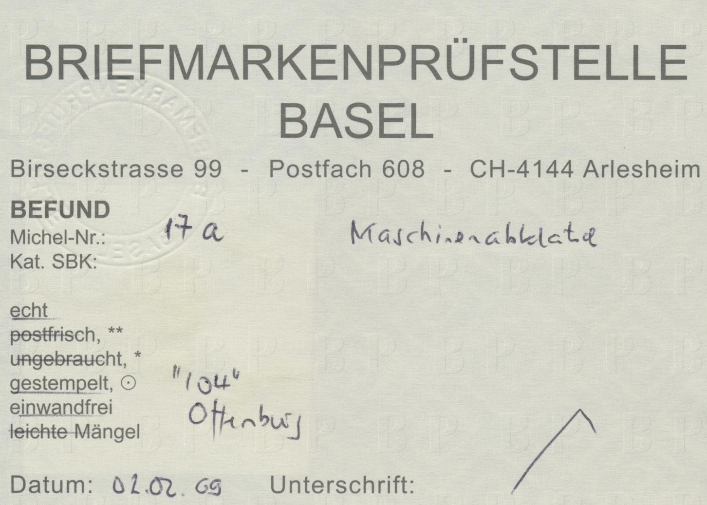 Lot 27396 - Baden - Marken und Briefe  -  Auktionshaus Christoph Gärtner GmbH & Co. KG Sale #46 Gollcetions Germany - including the suplement