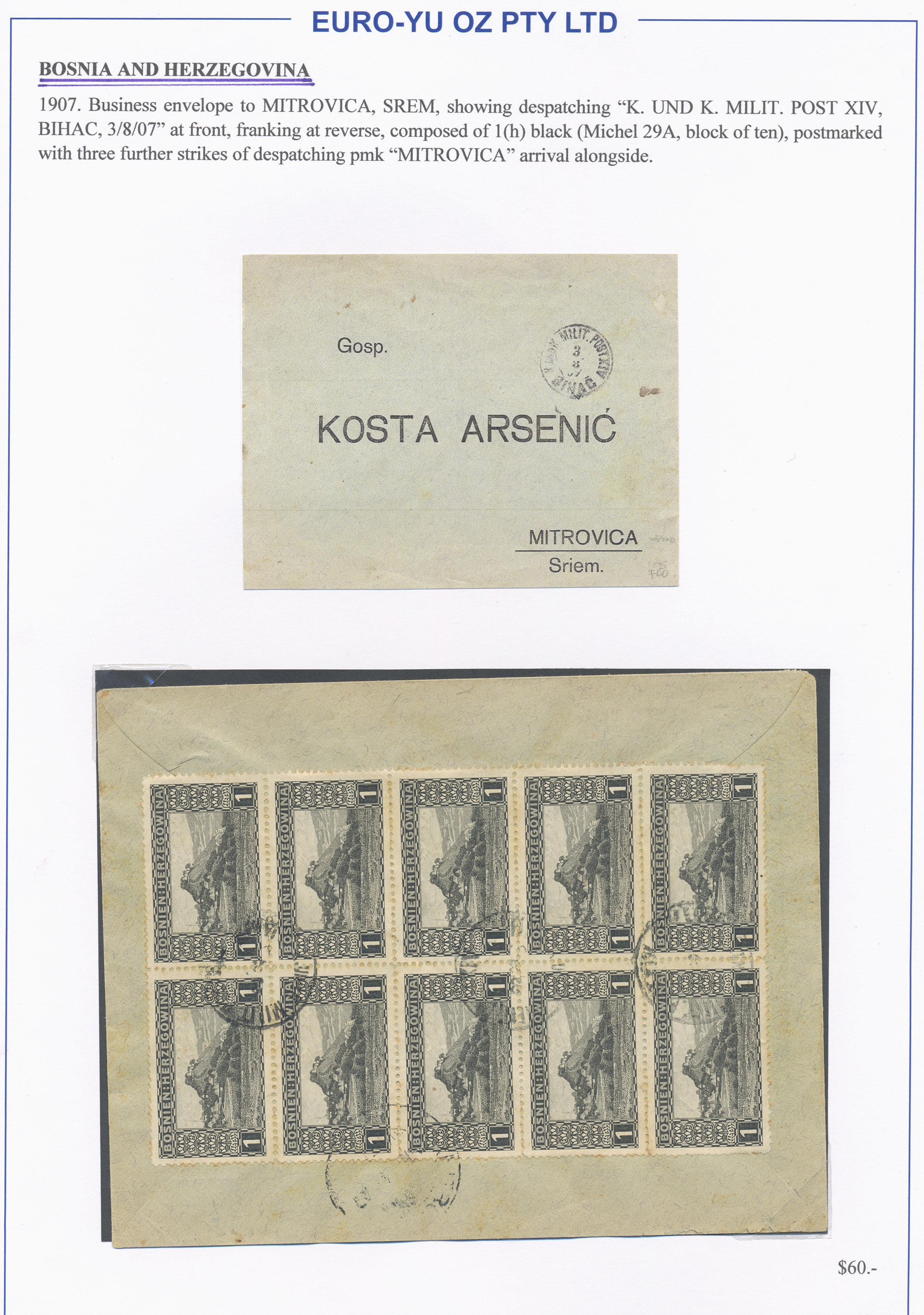 Lot 31350 - bosnien und herzegowina  -  Auktionshaus Christoph Gärtner GmbH & Co. KG Sale #44 Collections Overseas, Europe
