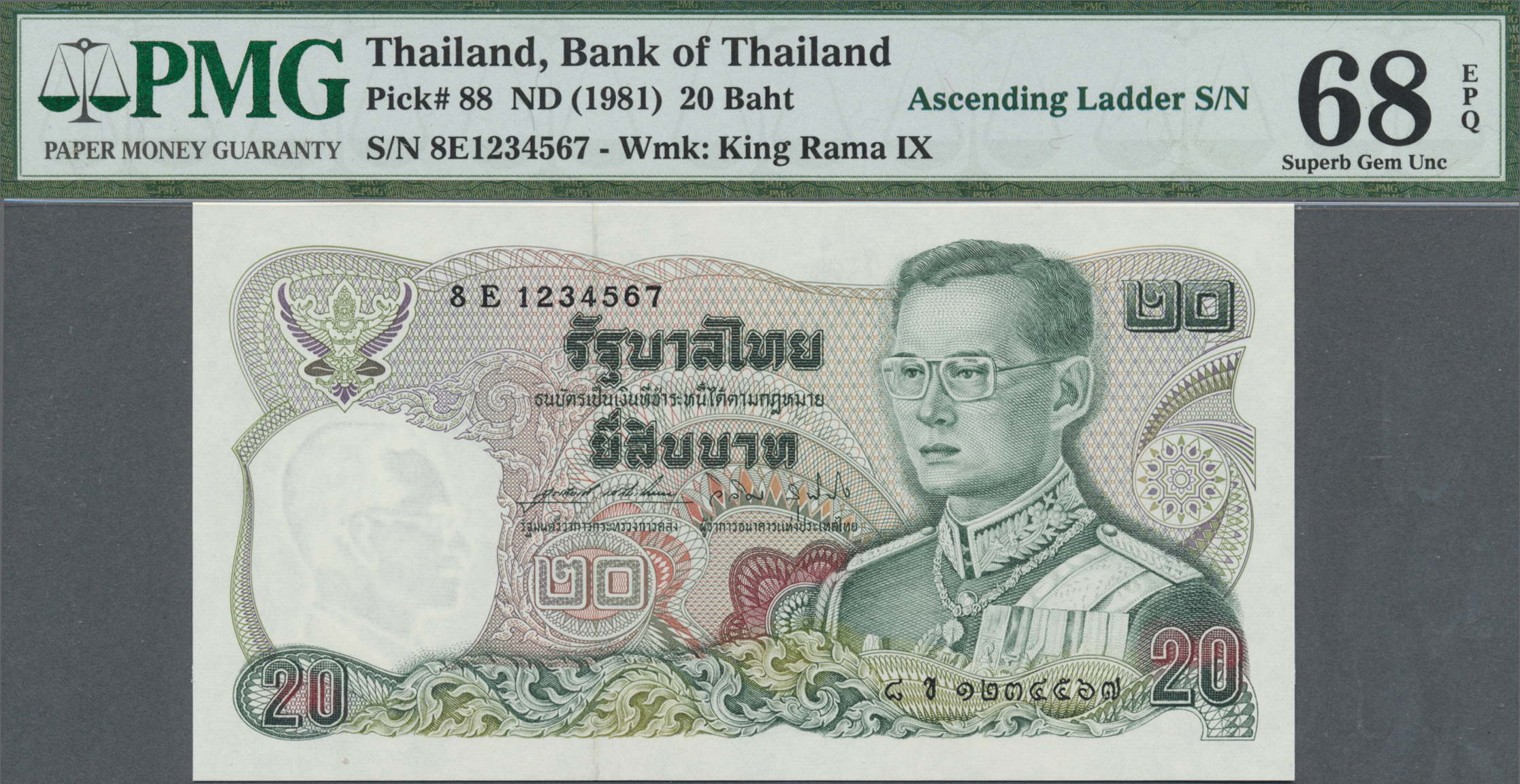 Lot 2014 - Thailand   Banknoten  -  Auktionshaus Christoph Gärtner GmbH & Co. KG Banknotes & Coins Auction #39 Day 2