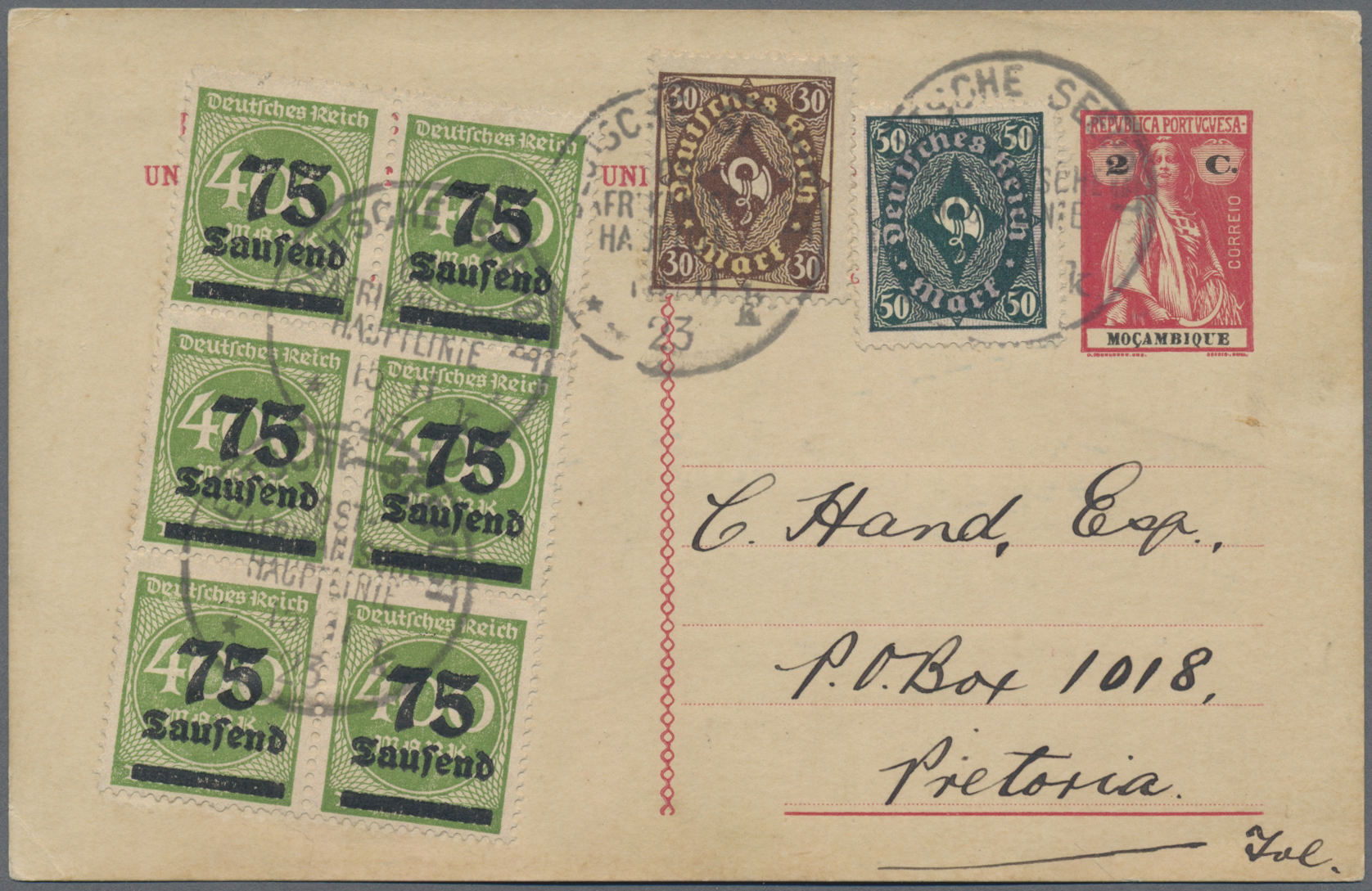 Lot 08940 - schiffspost alle welt  -  Auktionshaus Christoph Gärtner GmbH & Co. KG Sale #49 Single lots Asia, Thematics, Oversea, Europe, Old German States, Third Reich, German Colonies and the Federal Republic of Germany