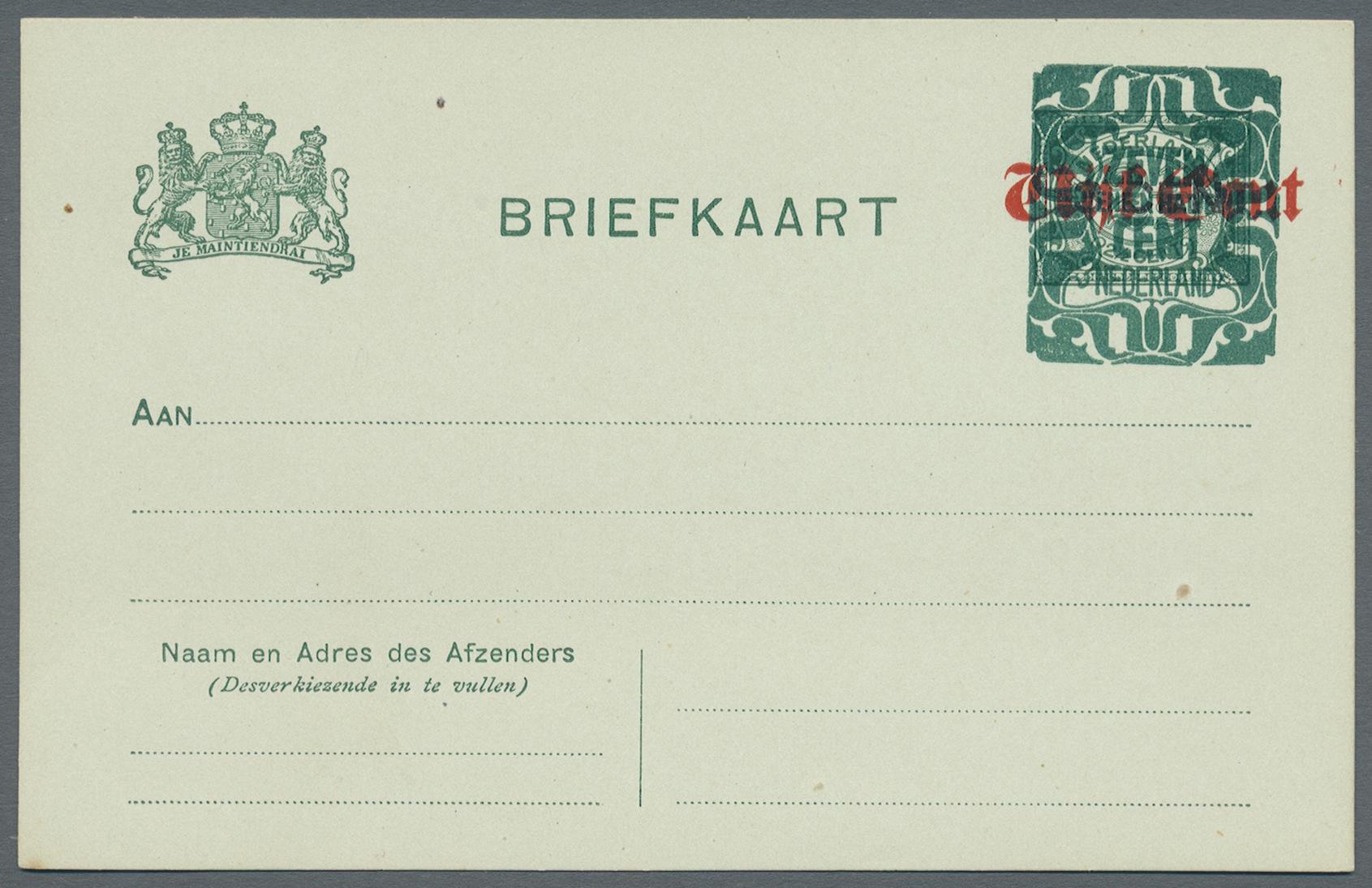 Lot 18202 - Niederlande - Ganzsachen  -  Auktionshaus Christoph Gärtner GmbH & Co. KG Sale #48 collections Overseas  Airmail / Ship mail & Thematics