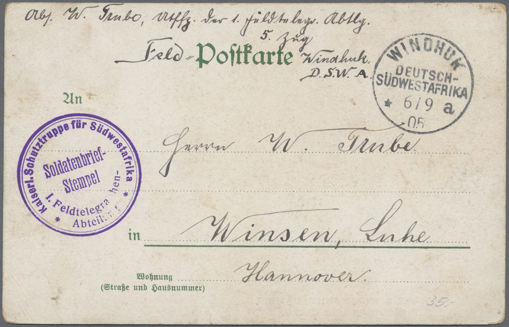 Lot 36943 - deutsch-südwestafrika  -  Auktionshaus Christoph Gärtner GmbH & Co. KG Sale #44 Collections Germany