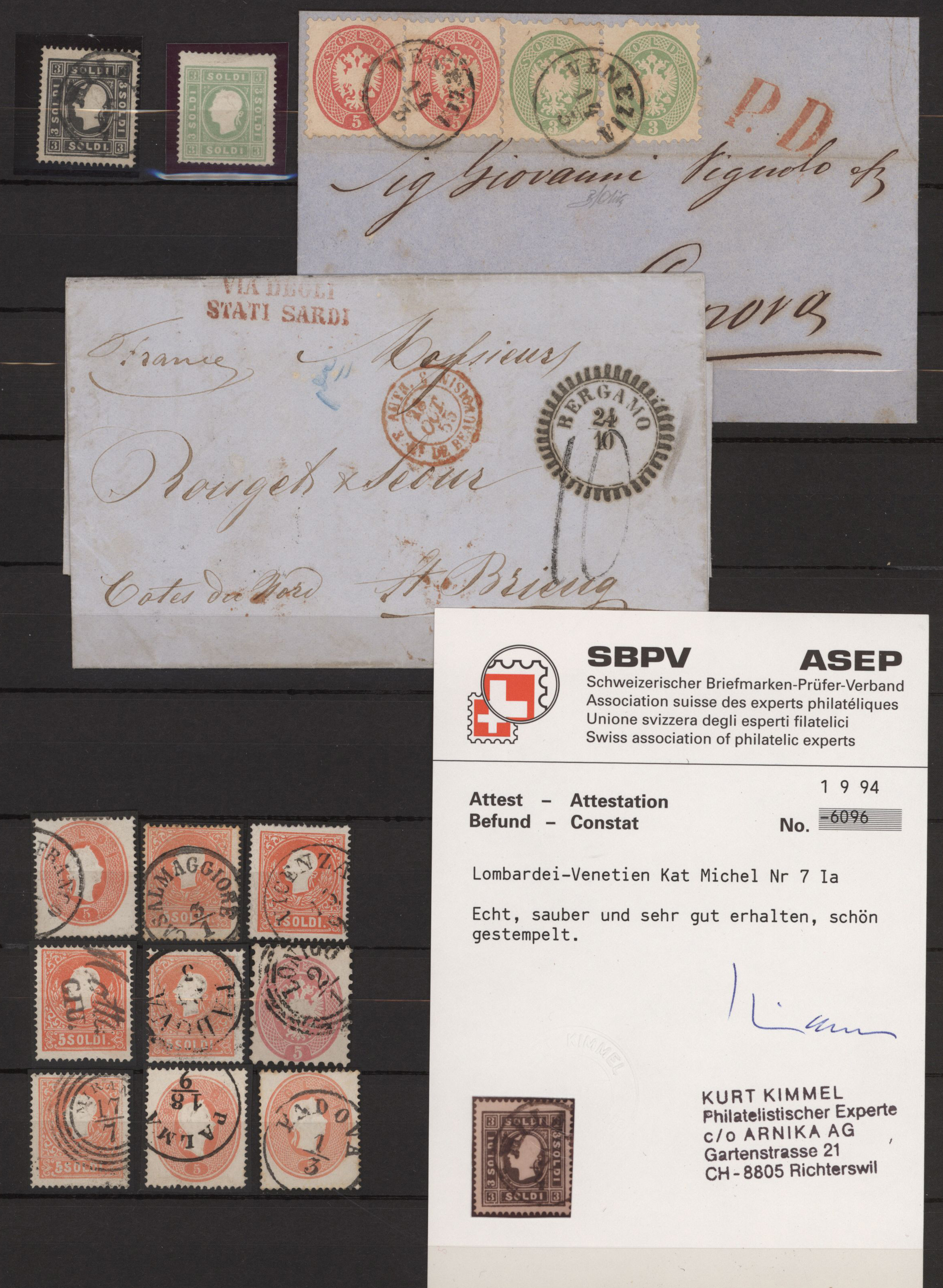 Lot 27254 - Österreich - Lombardei und Venetien  -  Auktionshaus Christoph Gärtner GmbH & Co. KG Sale #46 Gollcetions Germany - including the suplement