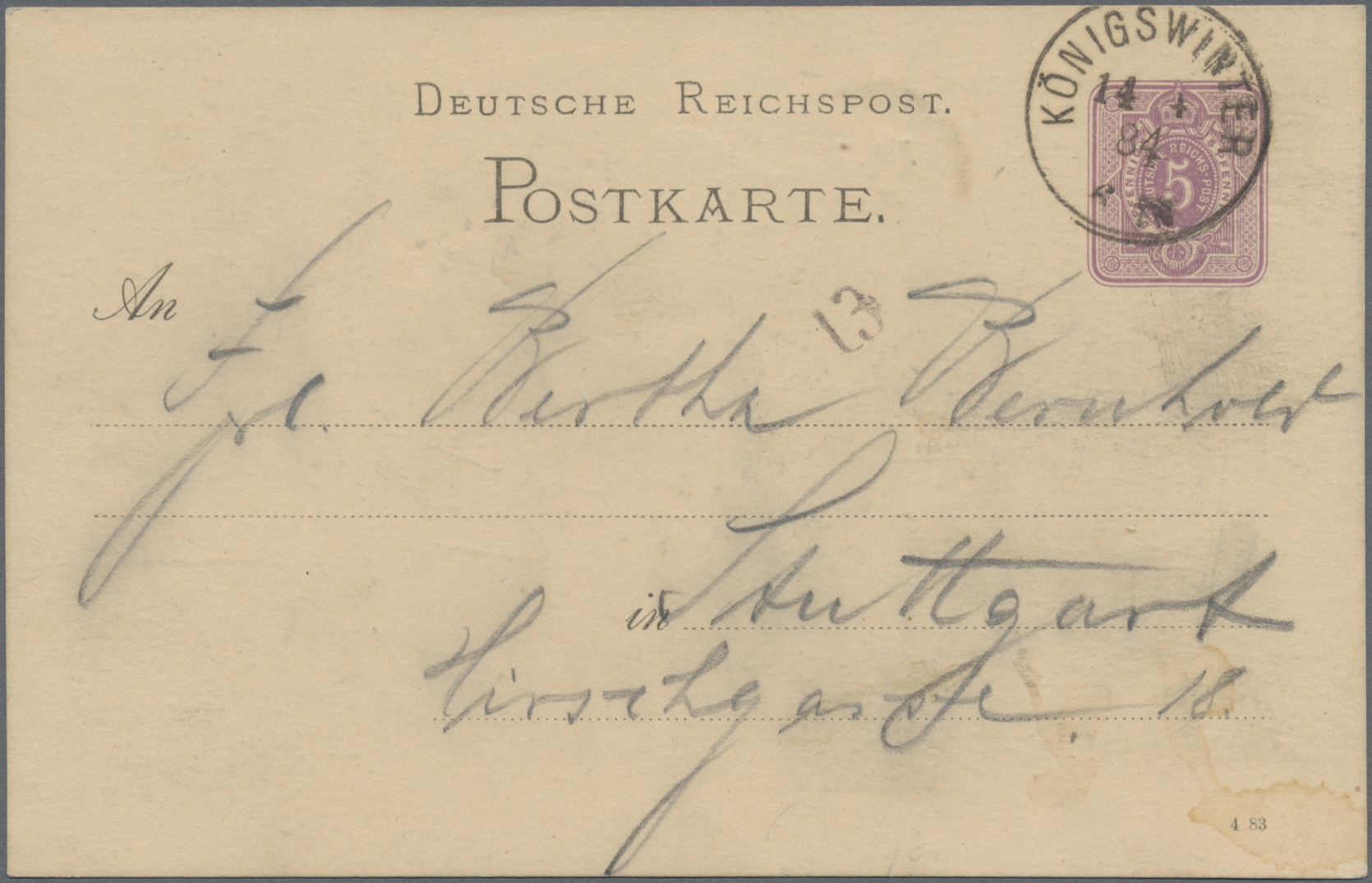 Lot 02577 - Ansichtskarten: Vorläufer  -  Auktionshaus Christoph Gärtner GmbH & Co. KG Special auction