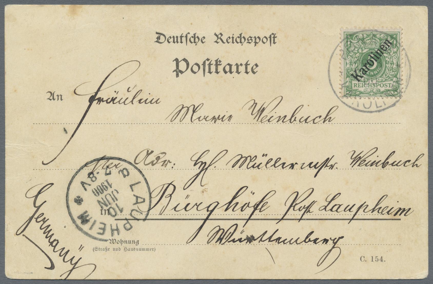 Lot 22719 - Deutsche Kolonien - Karolinen  -  Auktionshaus Christoph Gärtner GmbH & Co. KG Sale #44 Germany, Picture Post cards