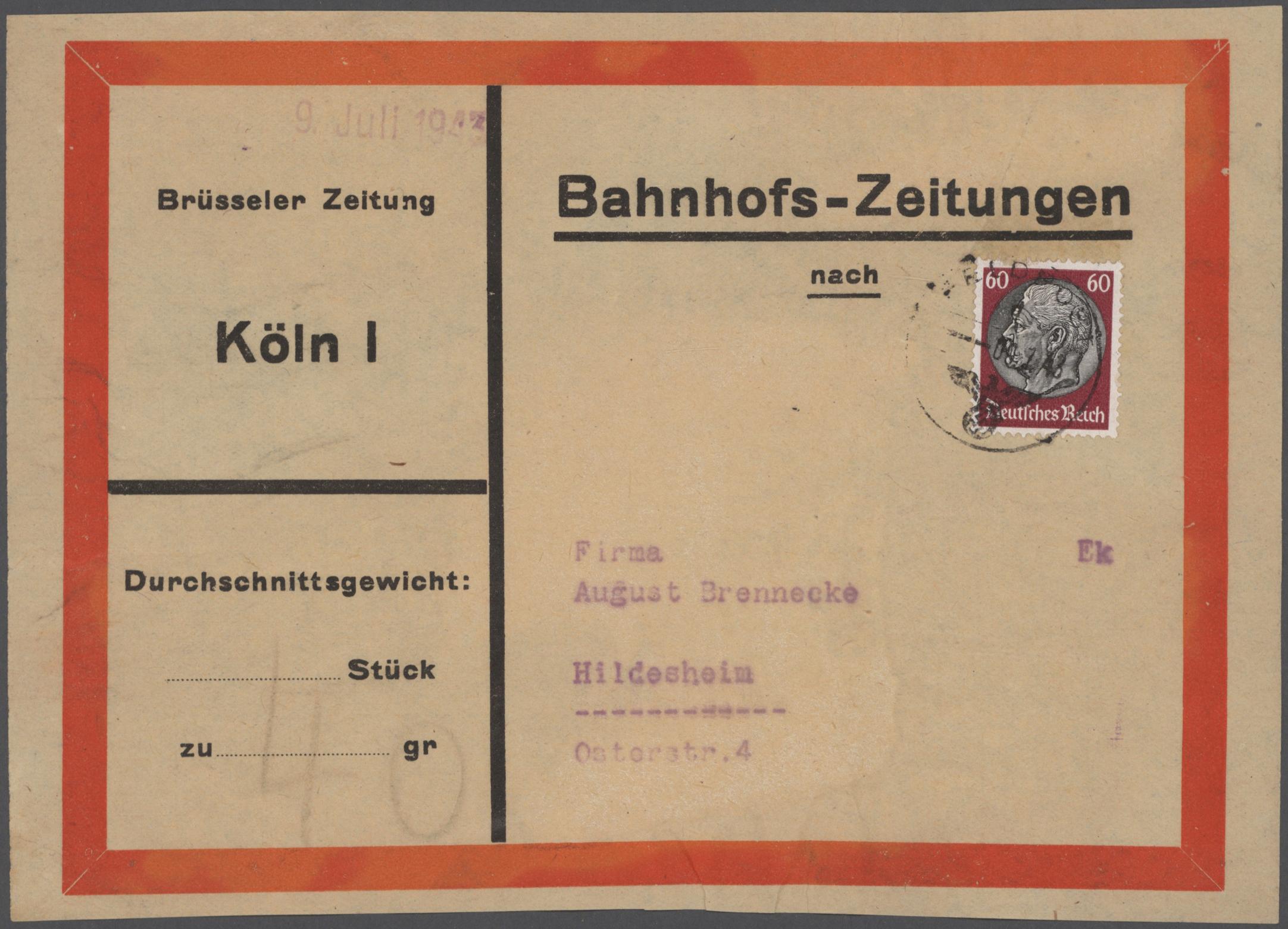 Lot 23707 - deutsche besetzung ii. wk  -  Auktionshaus Christoph Gärtner GmbH & Co. KG 50th Auction Anniversary Auction - Day 7