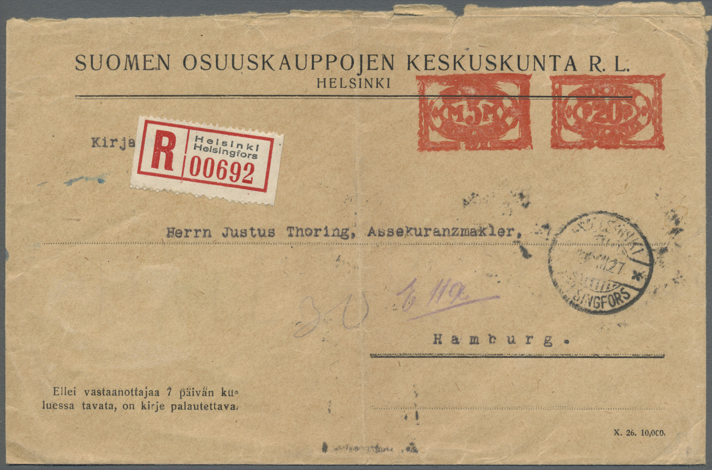 Lot 15858 - Finnland - Besonderheiten  -  Auktionshaus Christoph Gärtner GmbH & Co. KG Single lots Philately Overseas & Europe. Auction #39 Day 4