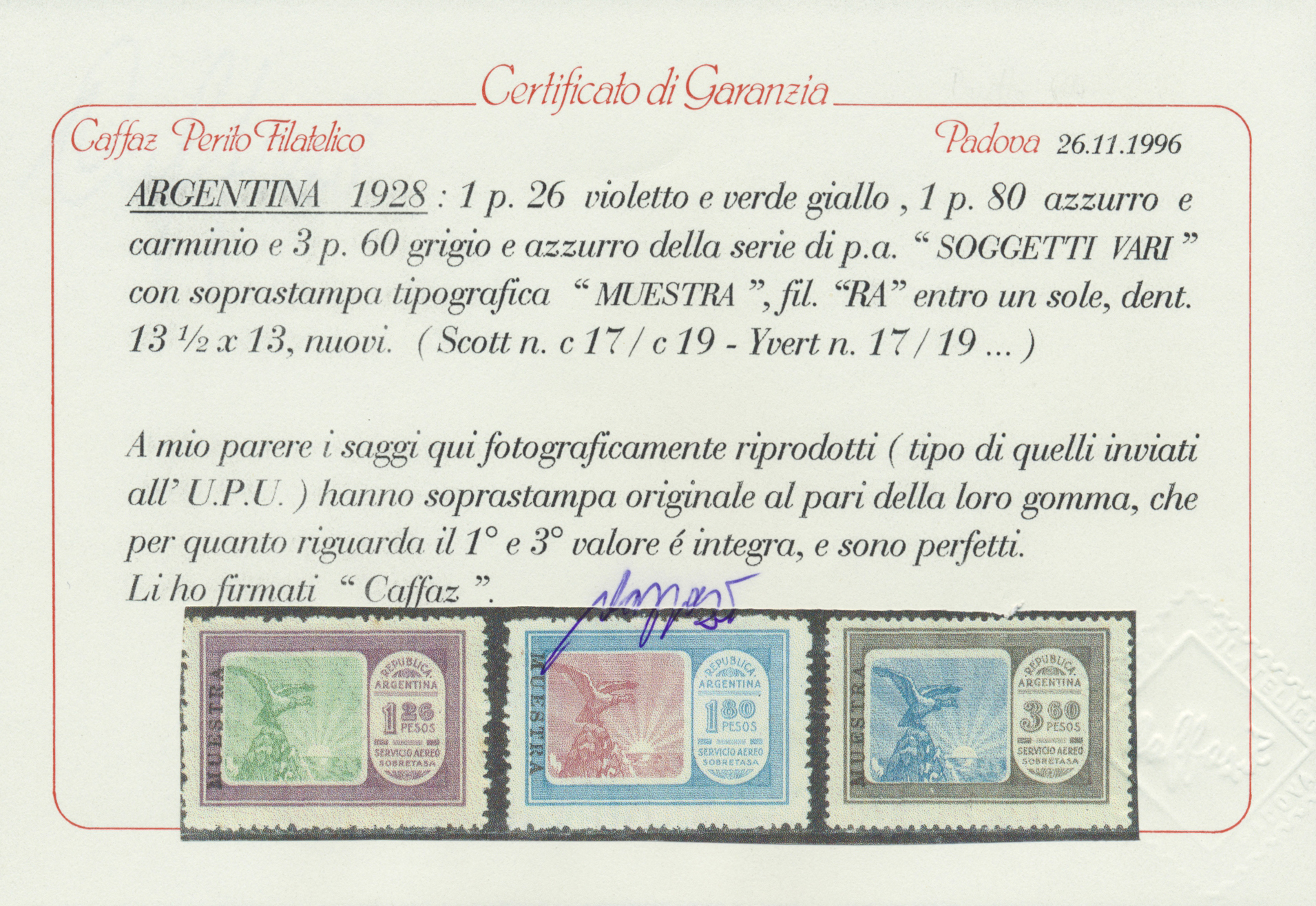 Lot 13185A - argentinien  -  Auktionshaus Christoph Gärtner GmbH & Co. KG Single lots Philately Overseas & Europe. Auction #39 Day 4