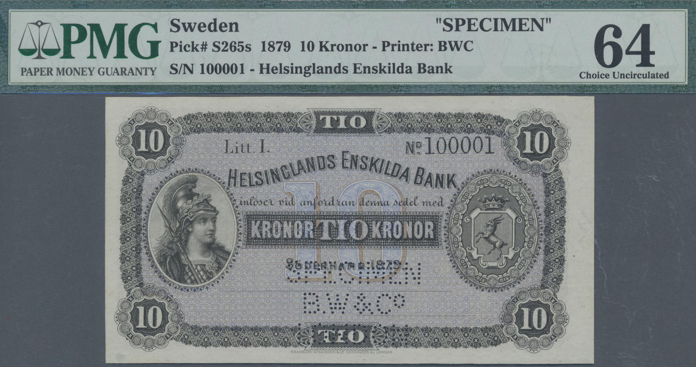 Lot 01572 - Sweden / Schweden | Banknoten  -  Auktionshaus Christoph Gärtner GmbH & Co. KG Sale #46 The Banknotes Worldwide section of the 46th Christoph Gärtner Auction