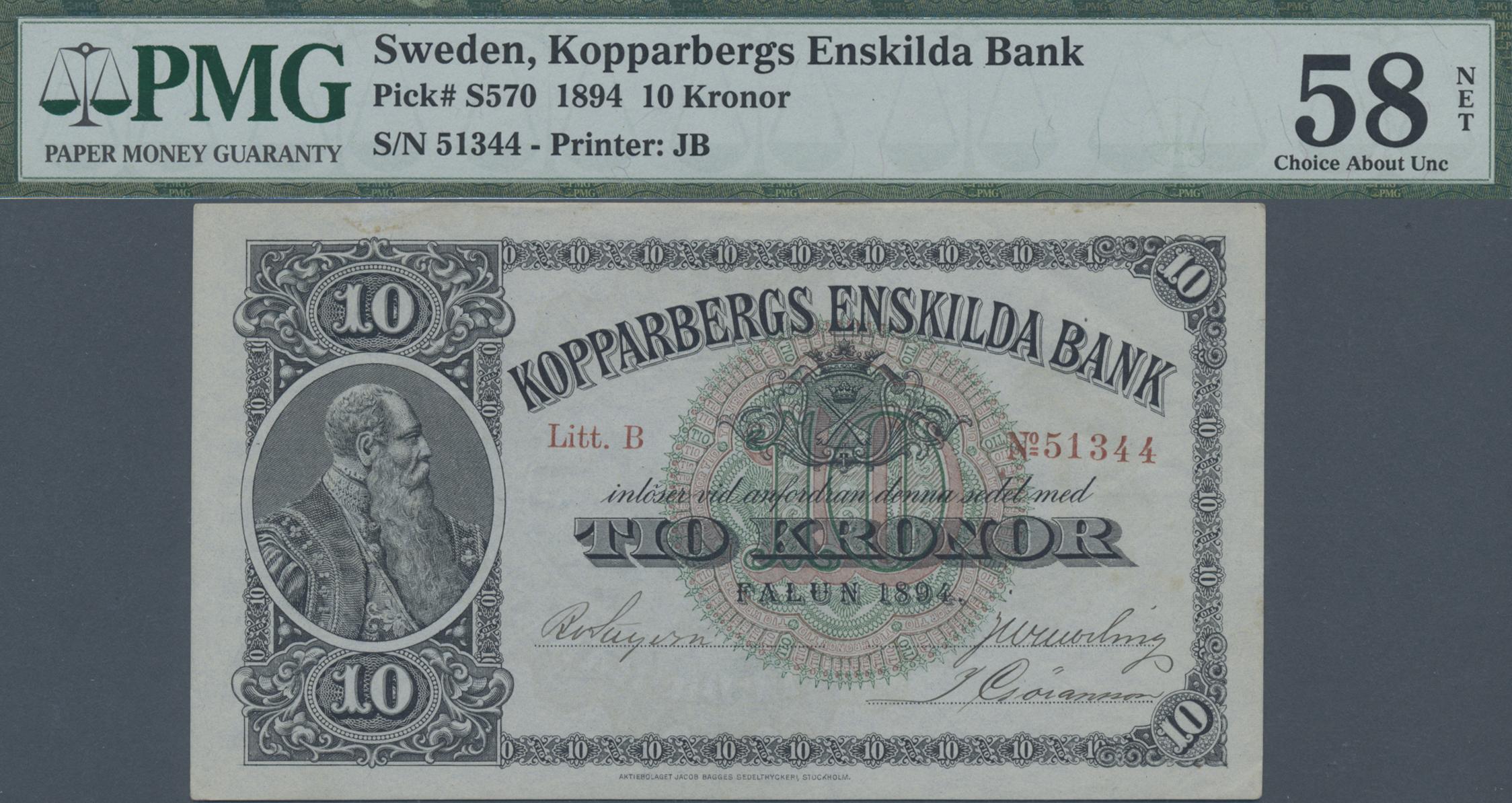 Lot 01573 - Sweden / Schweden   Banknoten  -  Auktionshaus Christoph Gärtner GmbH & Co. KG Sale #46 The Banknotes Worldwide section of the 46th Christoph Gärtner Auction