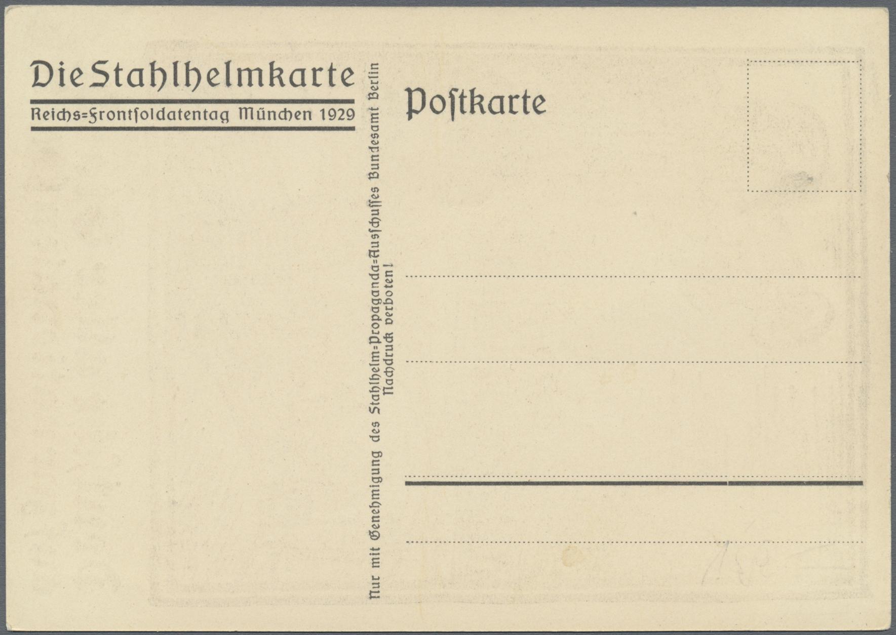 Lot 02487 - ansichtskarten: politik / politics  -  Auktionshaus Christoph Gärtner GmbH & Co. KG Special auction