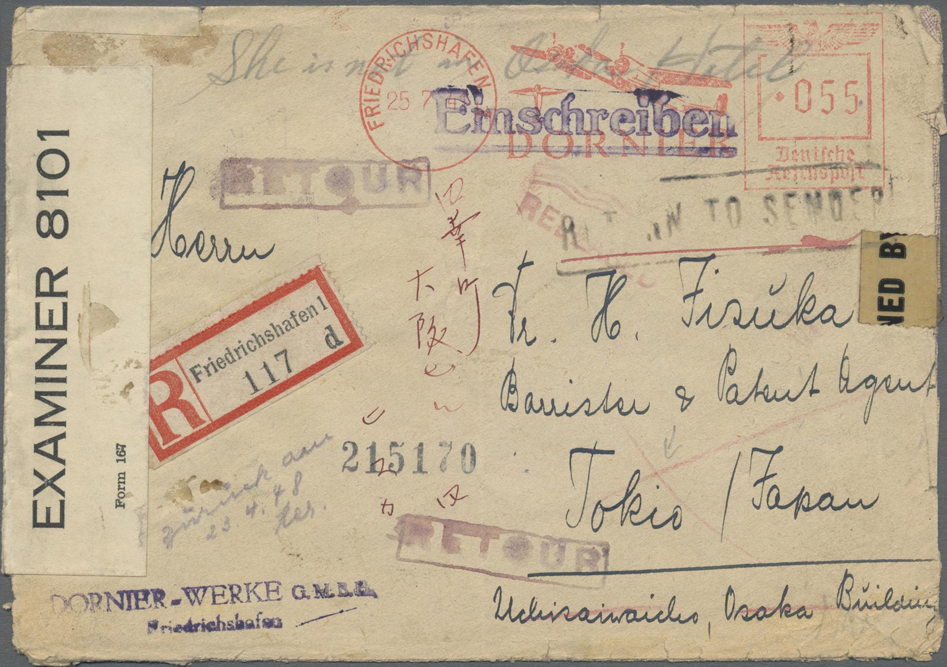Lot 23859 - Alliierte Besetzung - Überroller-Belege  -  Auktionshaus Christoph Gärtner GmbH & Co. KG Single lots Germany + Picture Postcards. Auction #39 Day 5
