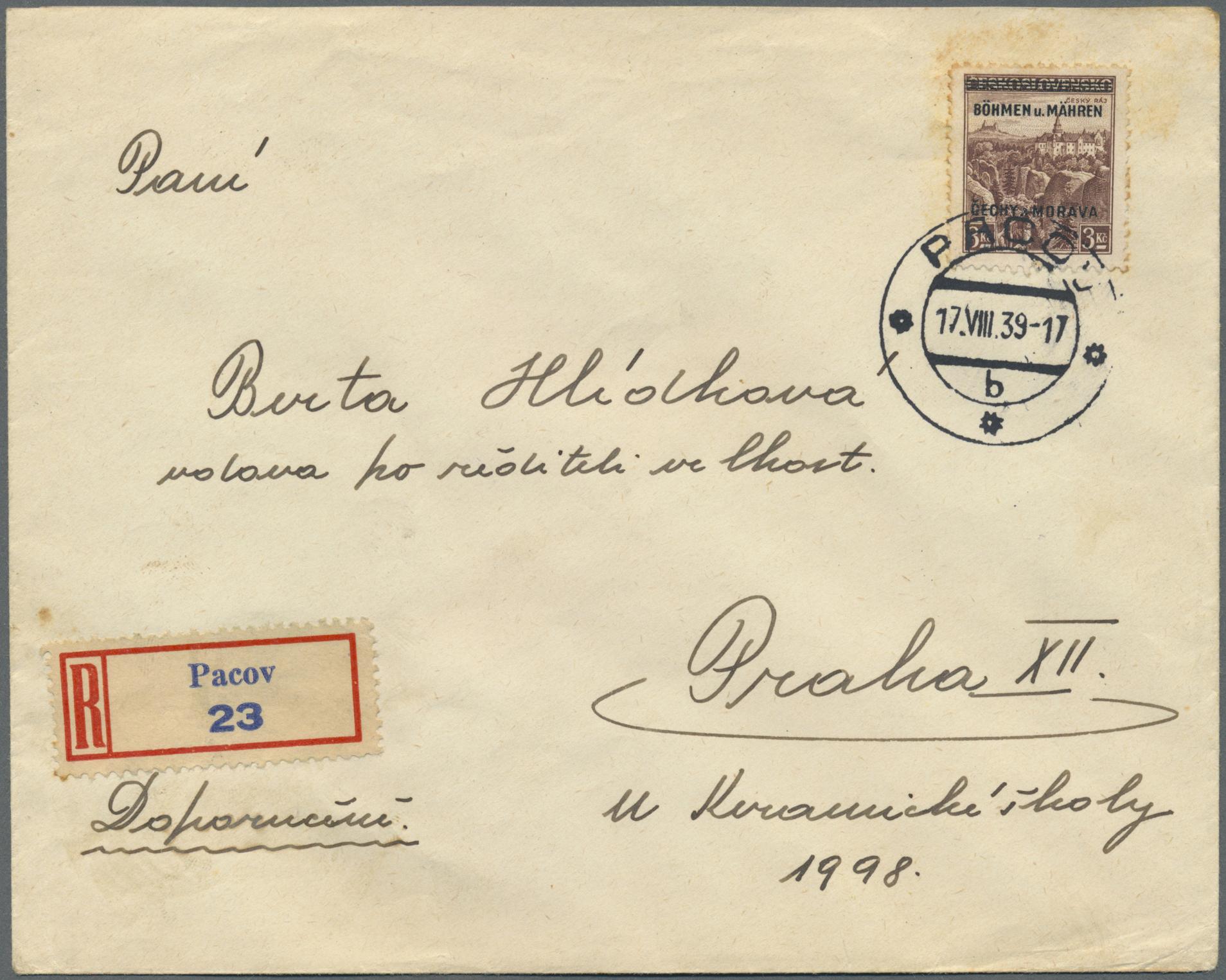 Lot 19322 - Dt. Besetzung II WK - Böhmen und Mähren  -  Auktionshaus Christoph Gärtner GmbH & Co. KG Auction #40 Germany, Picture Post Cards, Collections Overseas, Thematics