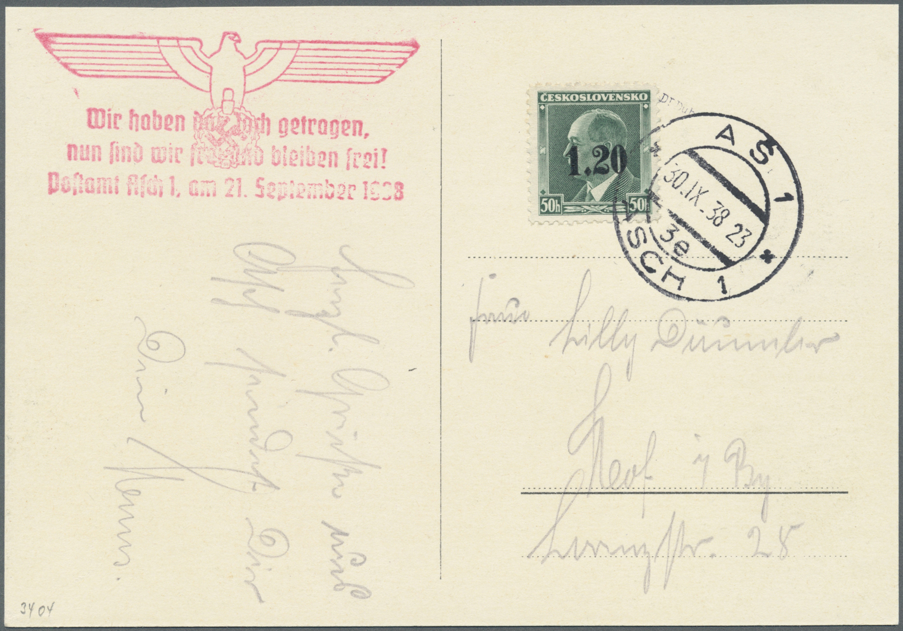 Lot 1 - Sudetenland - Asch  -  Auktionshaus Christoph Gärtner GmbH & Co. KG Auction #41 Special auction part one