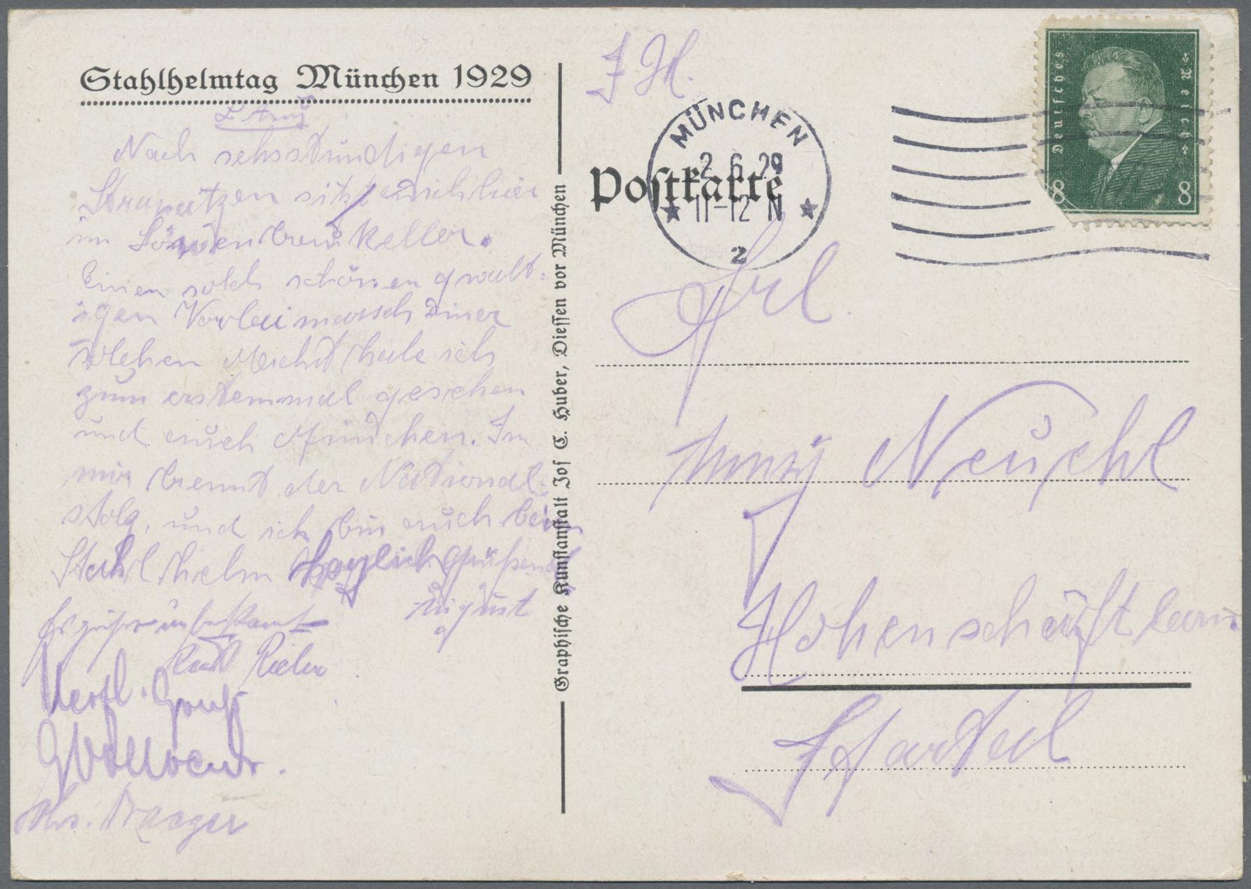 Lot 03134 - ansichtskarten: politik / politics  -  Auktionshaus Christoph Gärtner GmbH & Co. KG Sale #48 The Coins & The Picture Post Cards