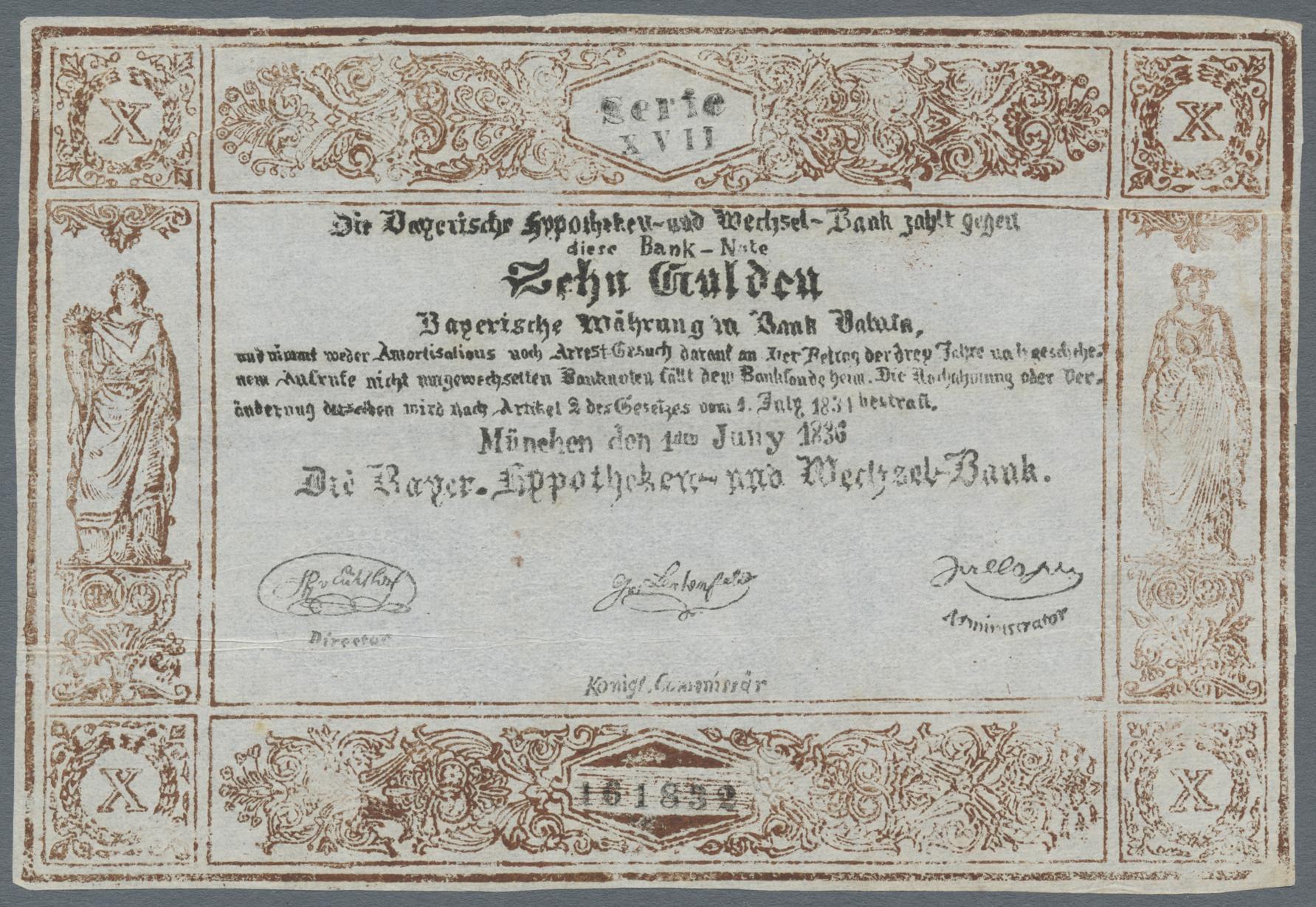 Lot 03300 - Deutschland - Altdeutsche Staaten | Banknoten  -  Auktionshaus Christoph Gärtner GmbH & Co. KG Sale #45 Banknotes Germany/Numismatics